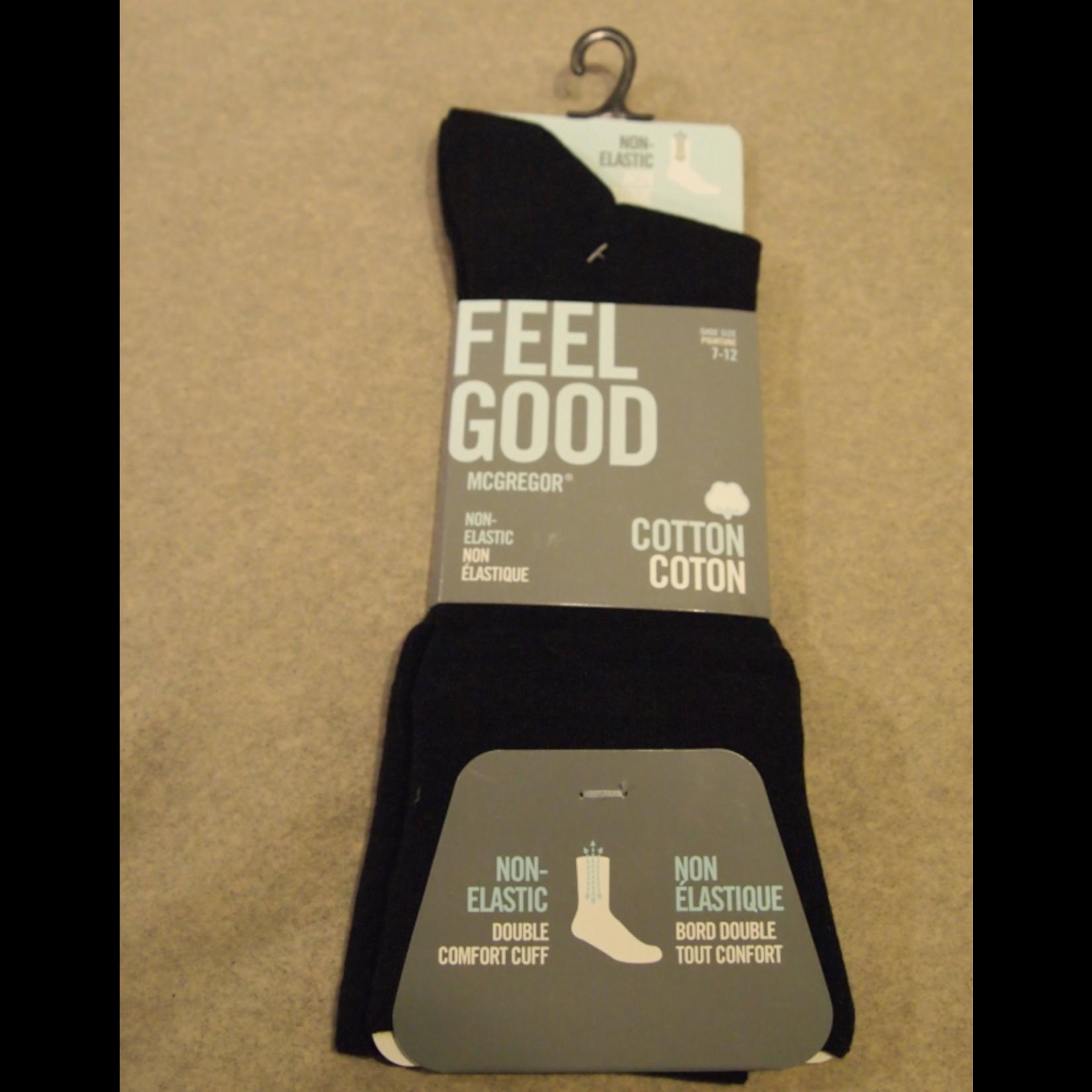 McGregor McGregor MMV150 Non-Elastic Feel Good Sock Black