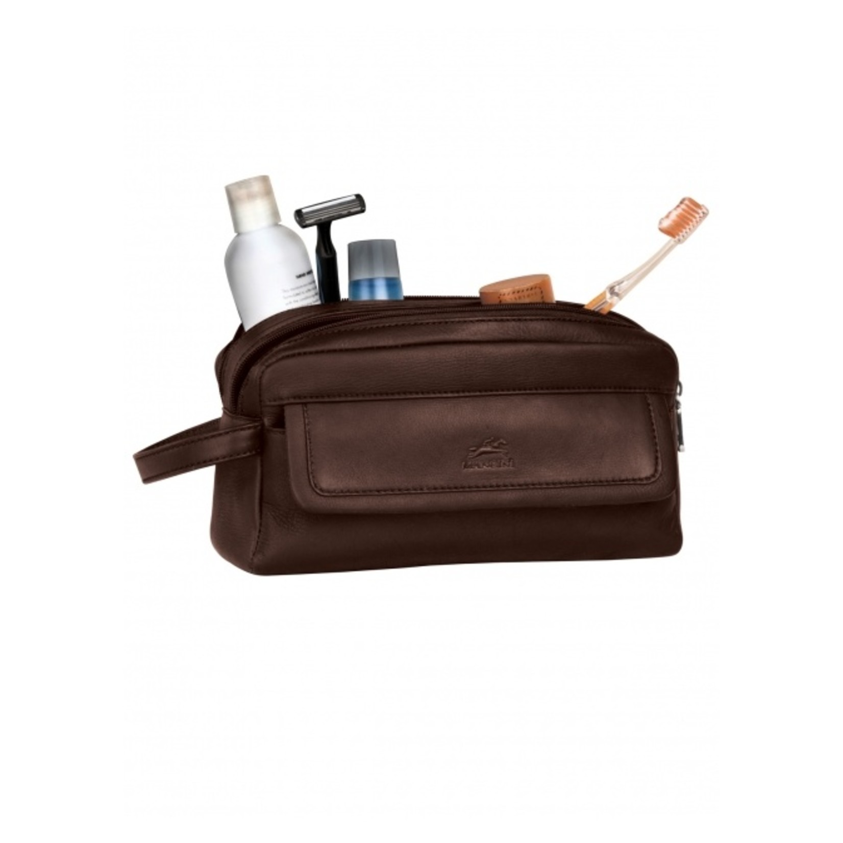 Mancini Mancini 98201 Double Compartment Toiletry Bag