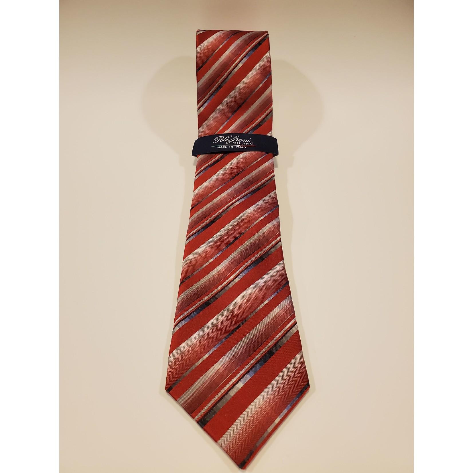 Polifroni Polifroni 211906 Jacquard Striped Silk Tie