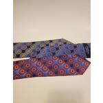 Polifroni Polifroni 211903 Jacquard Circle Pattern Silk Tie