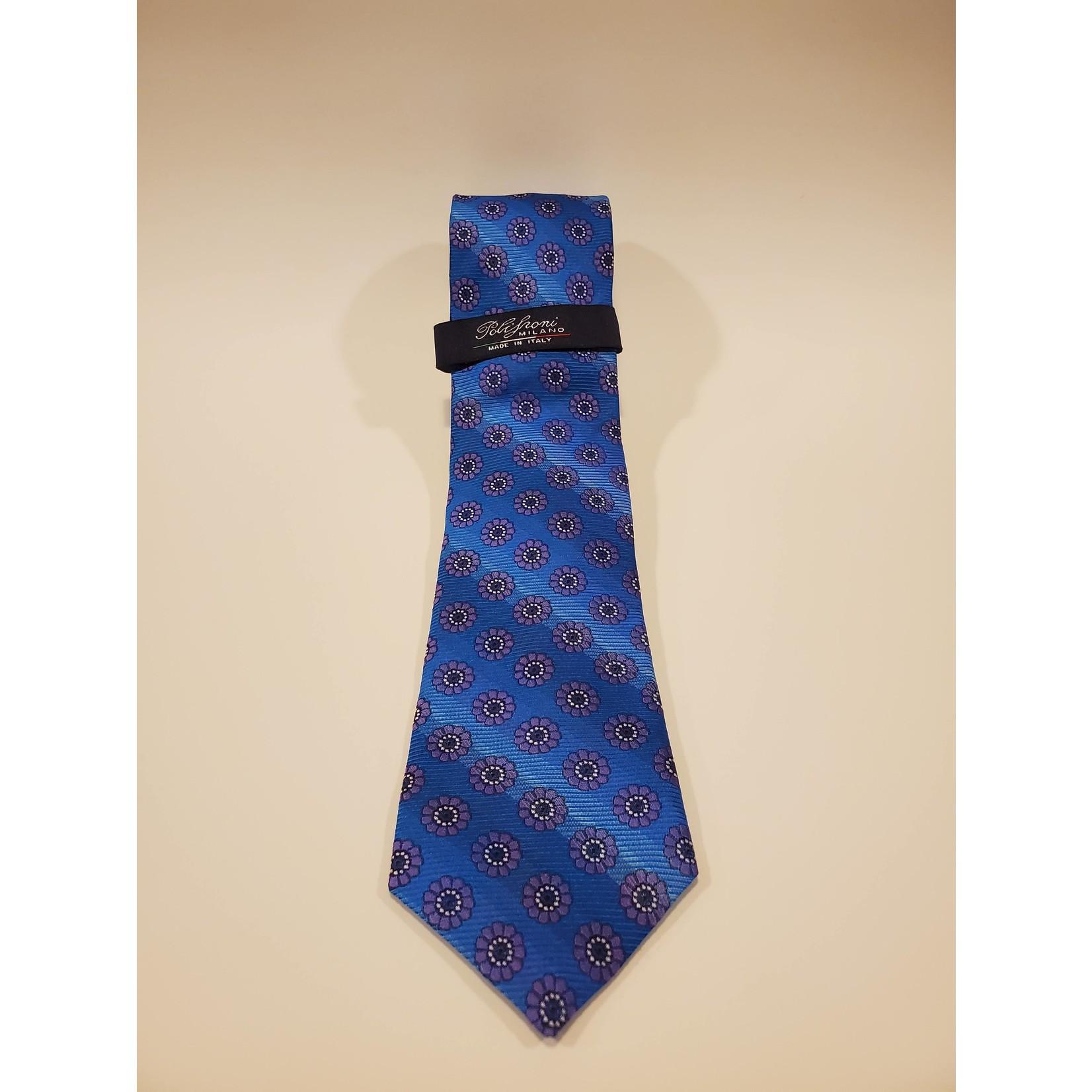 Polifroni Polifroni 211904 Jacquard Floral Silk Tie