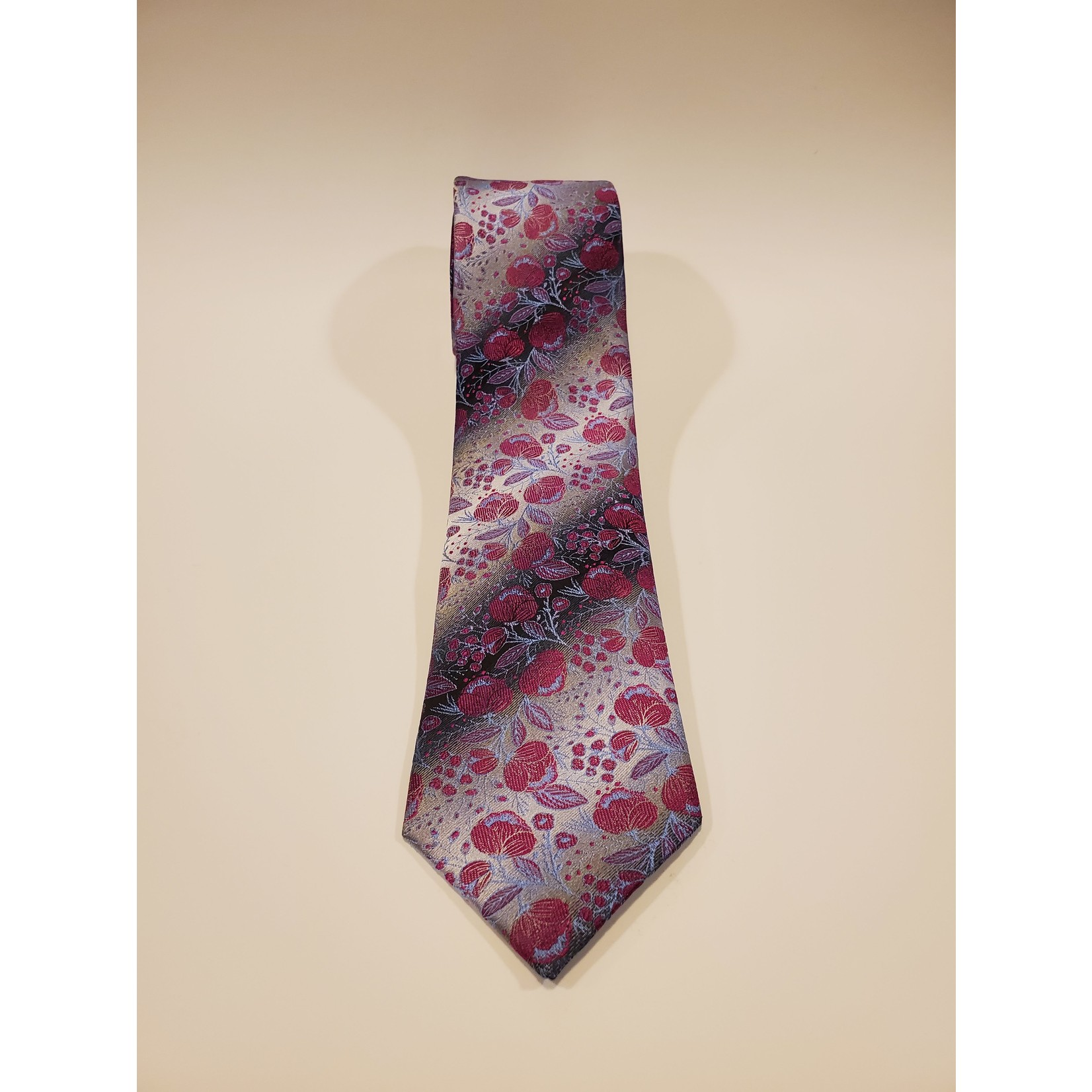 Polifroni Blu 201250 Jacquard Floral Silk Tie
