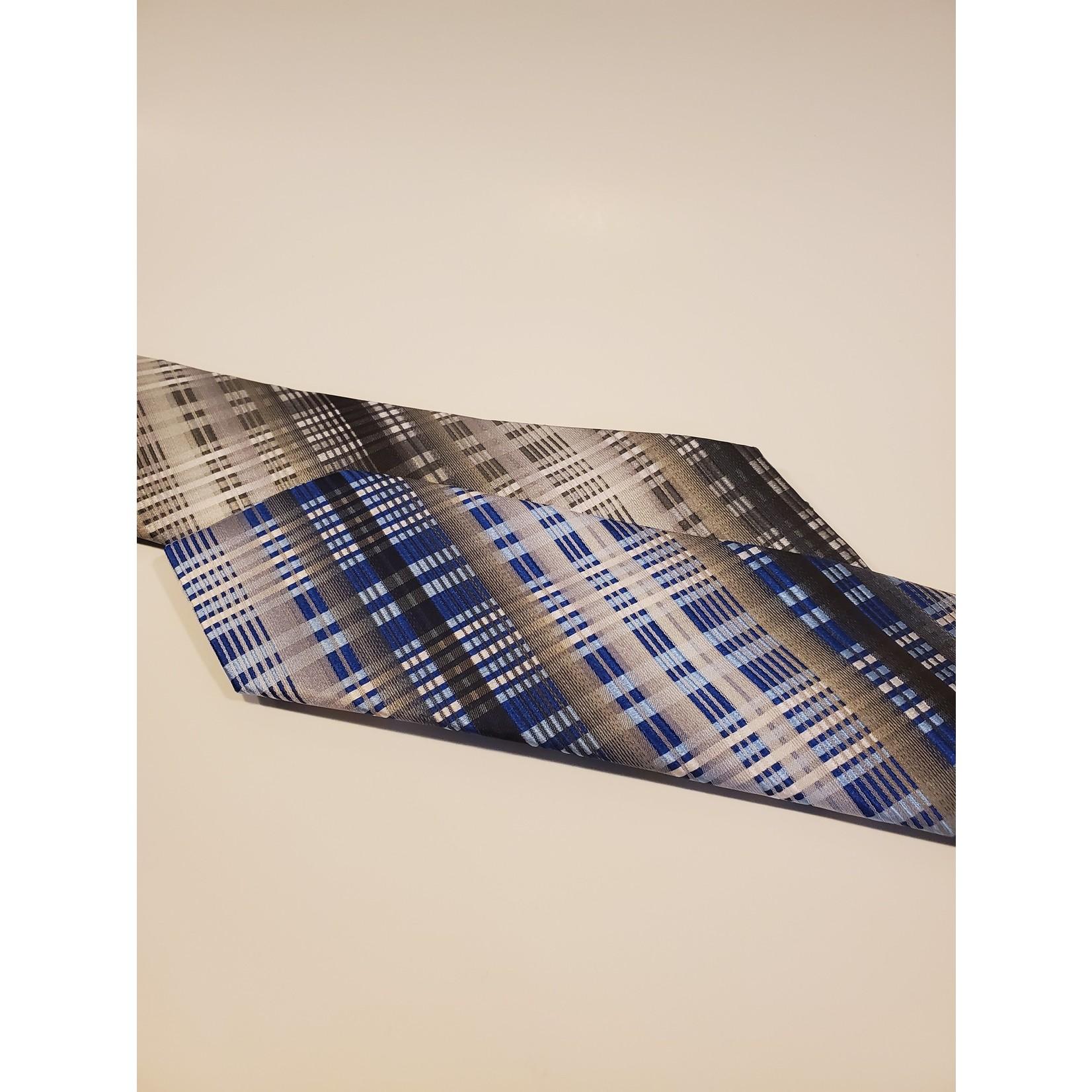 Polifroni Blu 201261 Jacquard Check Silk Tie