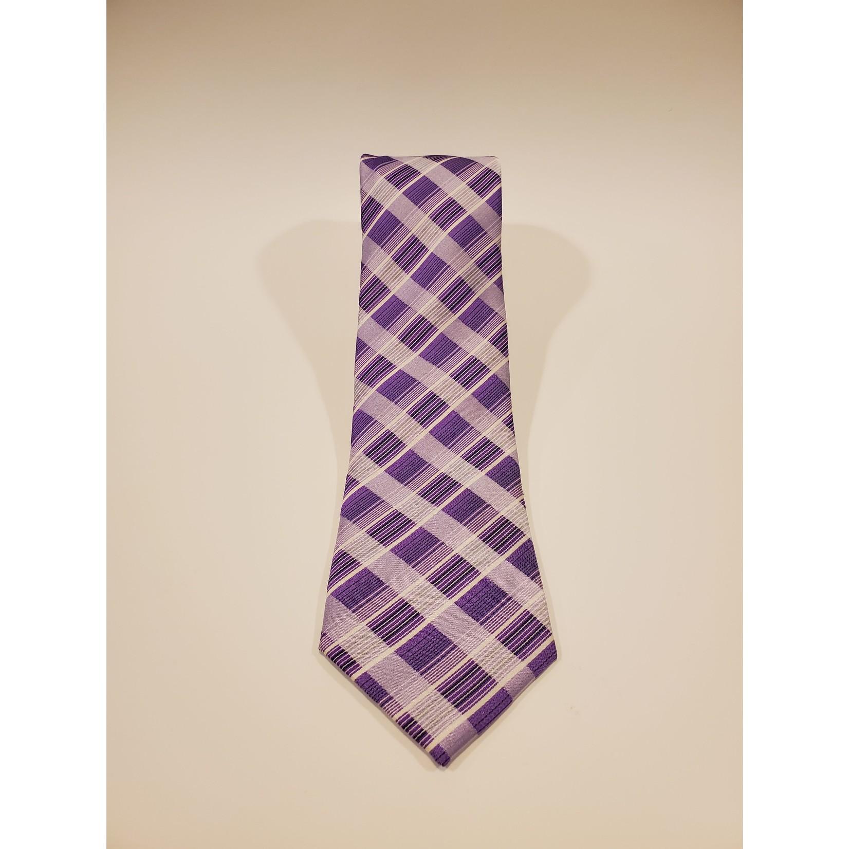 Andrew Fezza 211214 Jacquard Check Silk Tie
