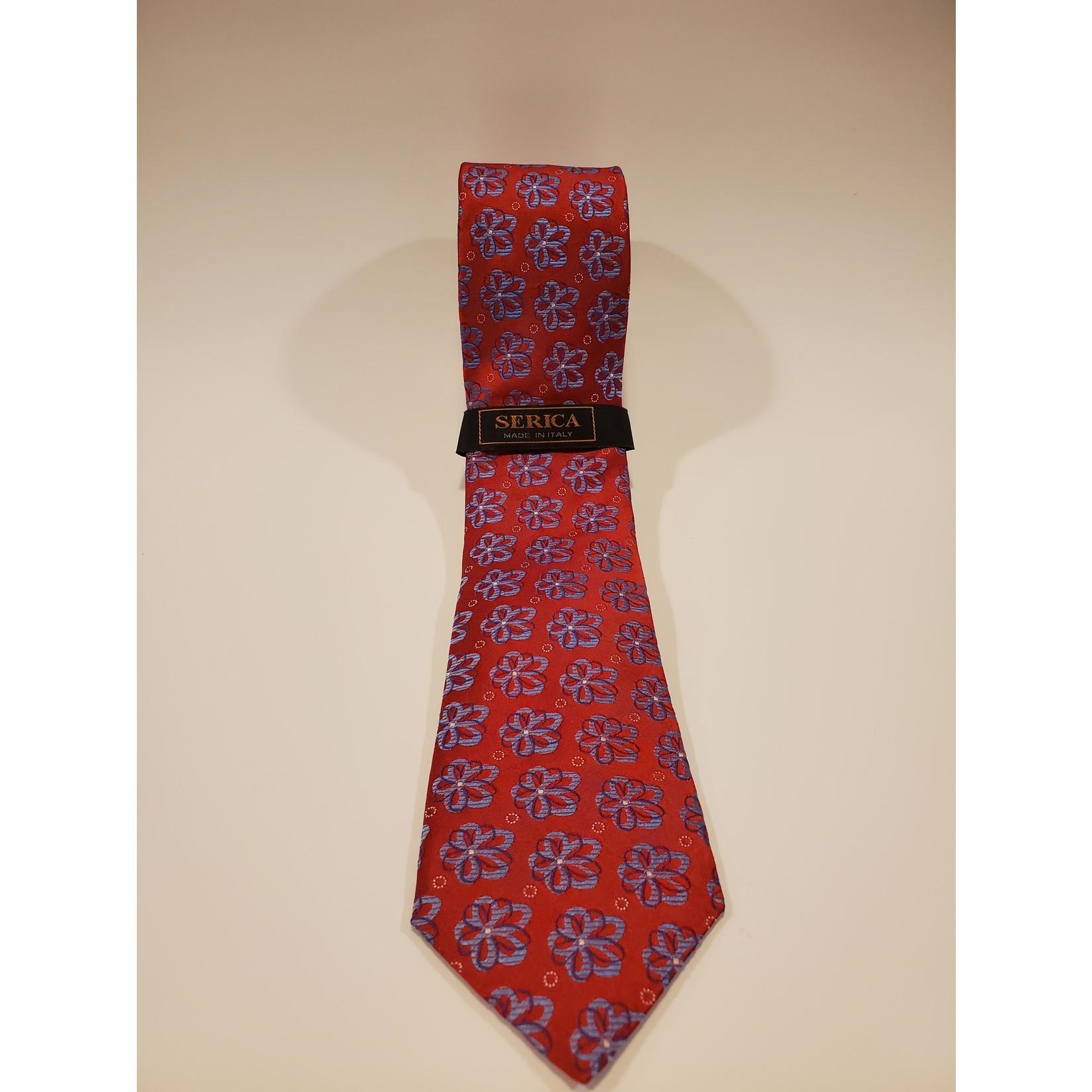 Serica 213218 Jacquard Floral Silk Tie