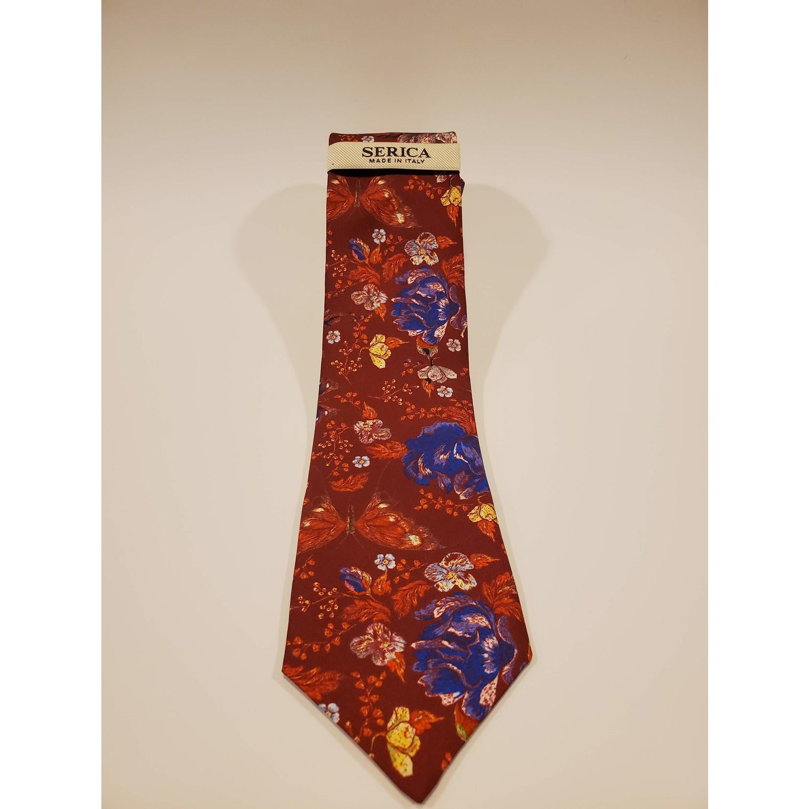 Serica 203213 Printed Floral Silk Tie