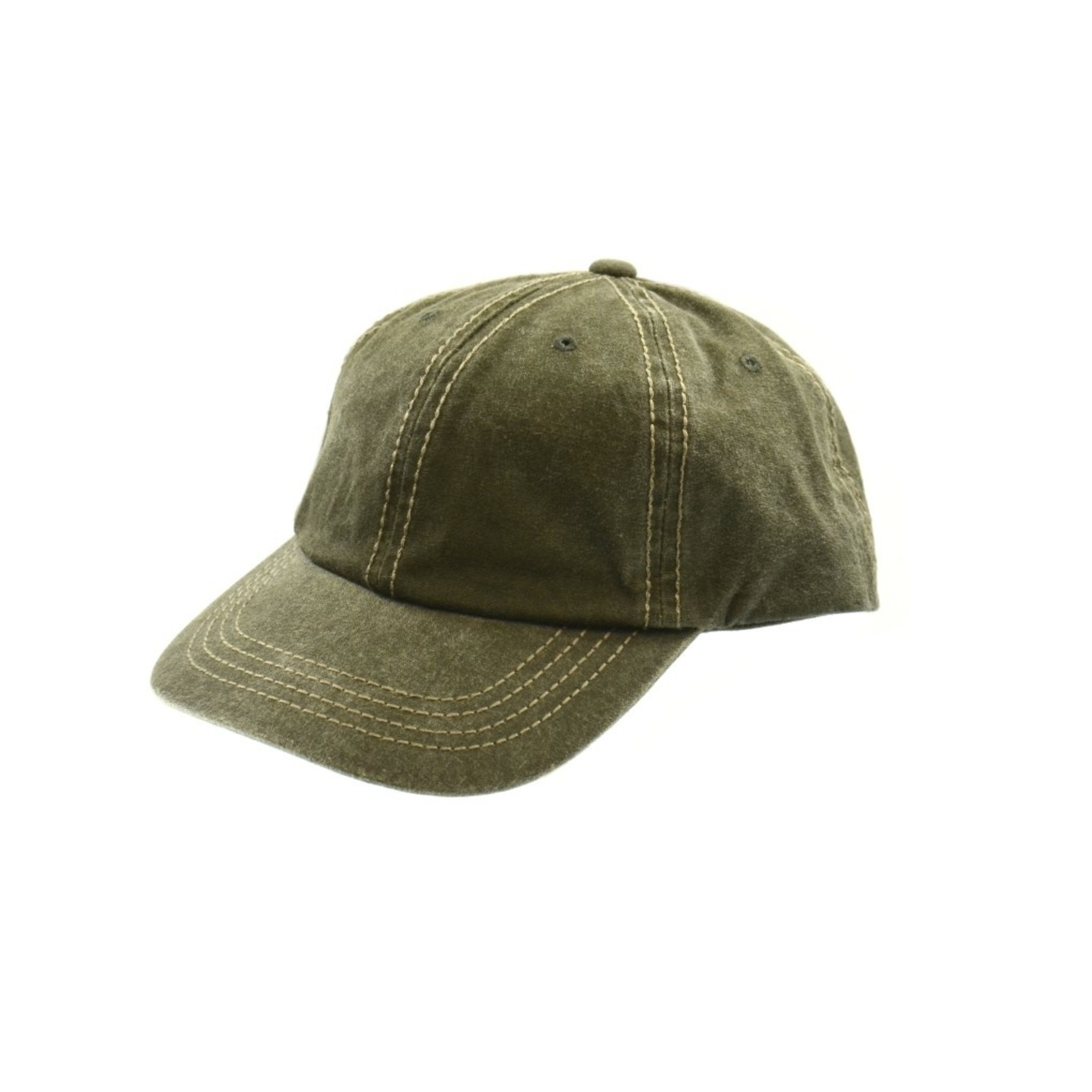 Crowncap 5-10136 Washed Pigment Dyed Adj Baseball Cap 625 Cream