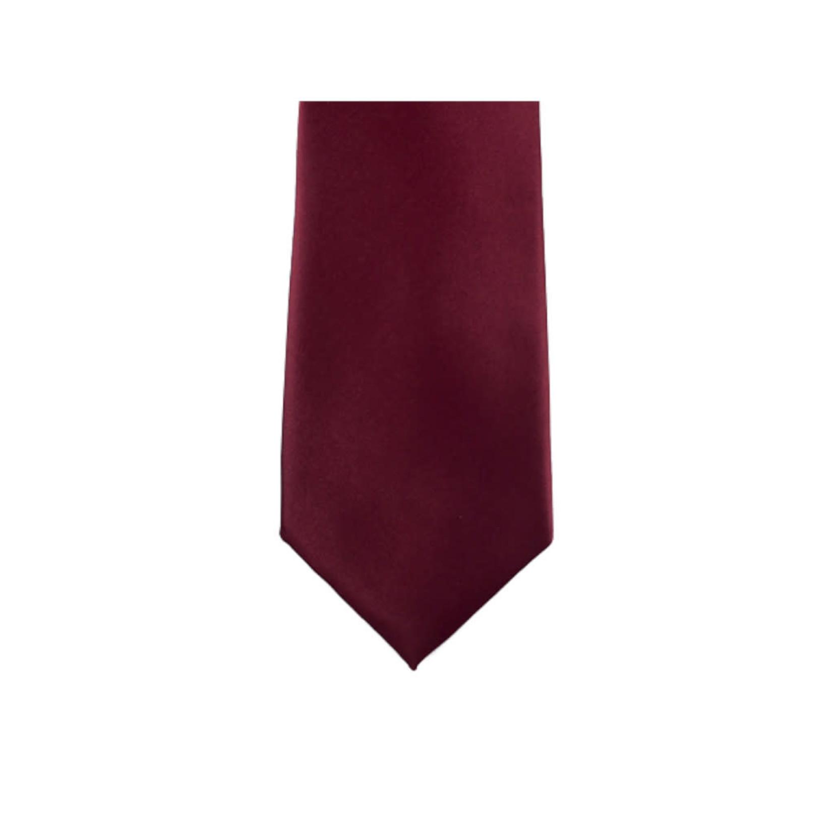 Knotz M100-6 Solid Burgundy Tie