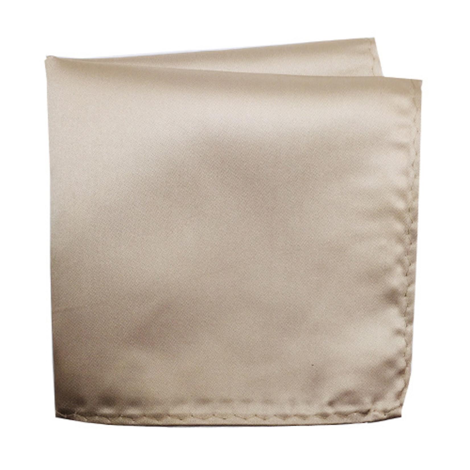Knotz M100PSQ-56 Solid Champagne Pocket Square