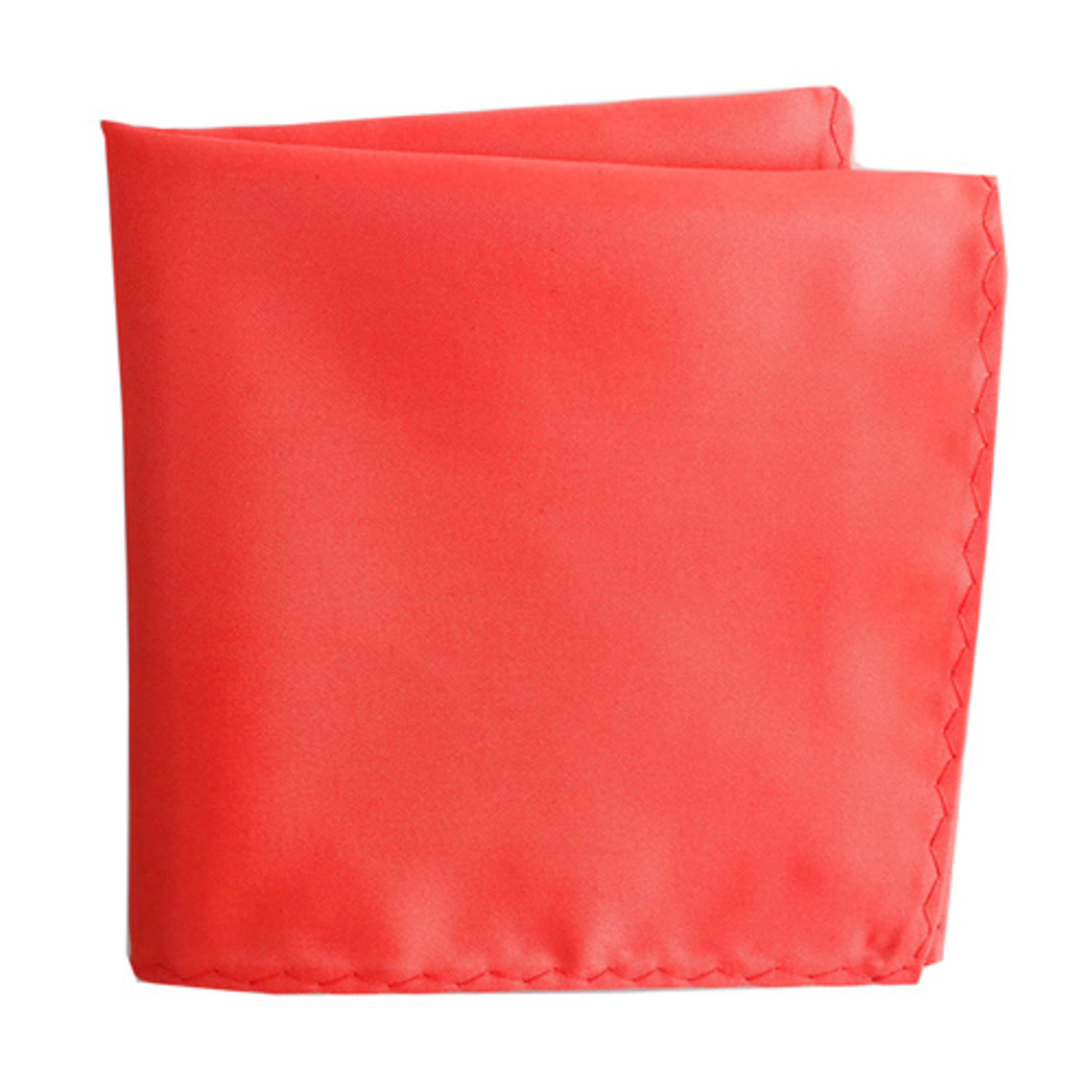 Knotz M100PSQ-44 Solid Coral Pocket Square