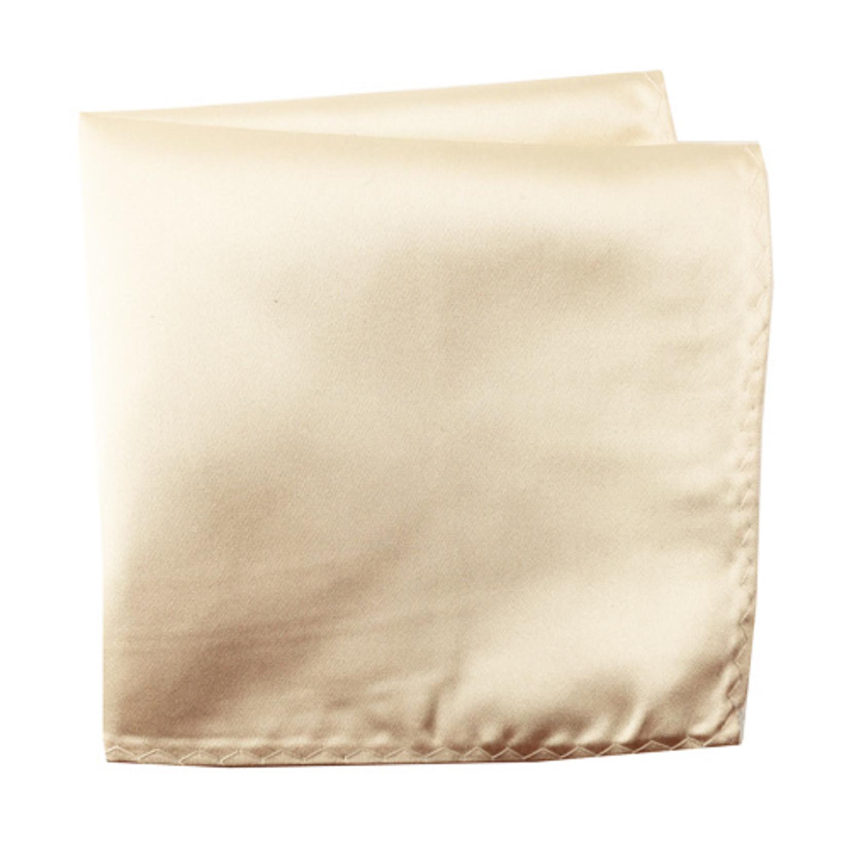 Knotz M100PSQ-33 Solid Ecru Pocket Square
