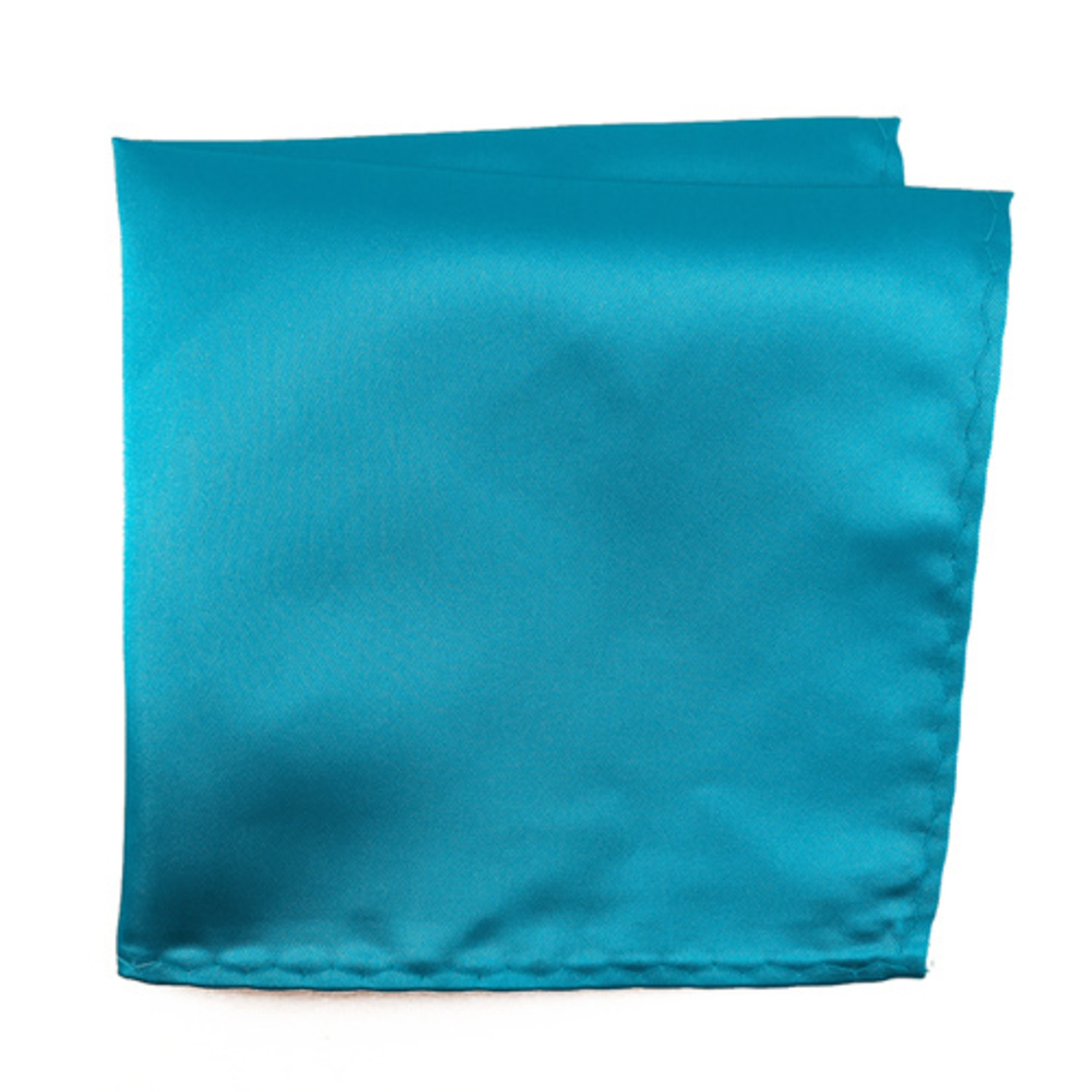 Knotz M100PSQ-20 Solid Turquoise Pocket Square