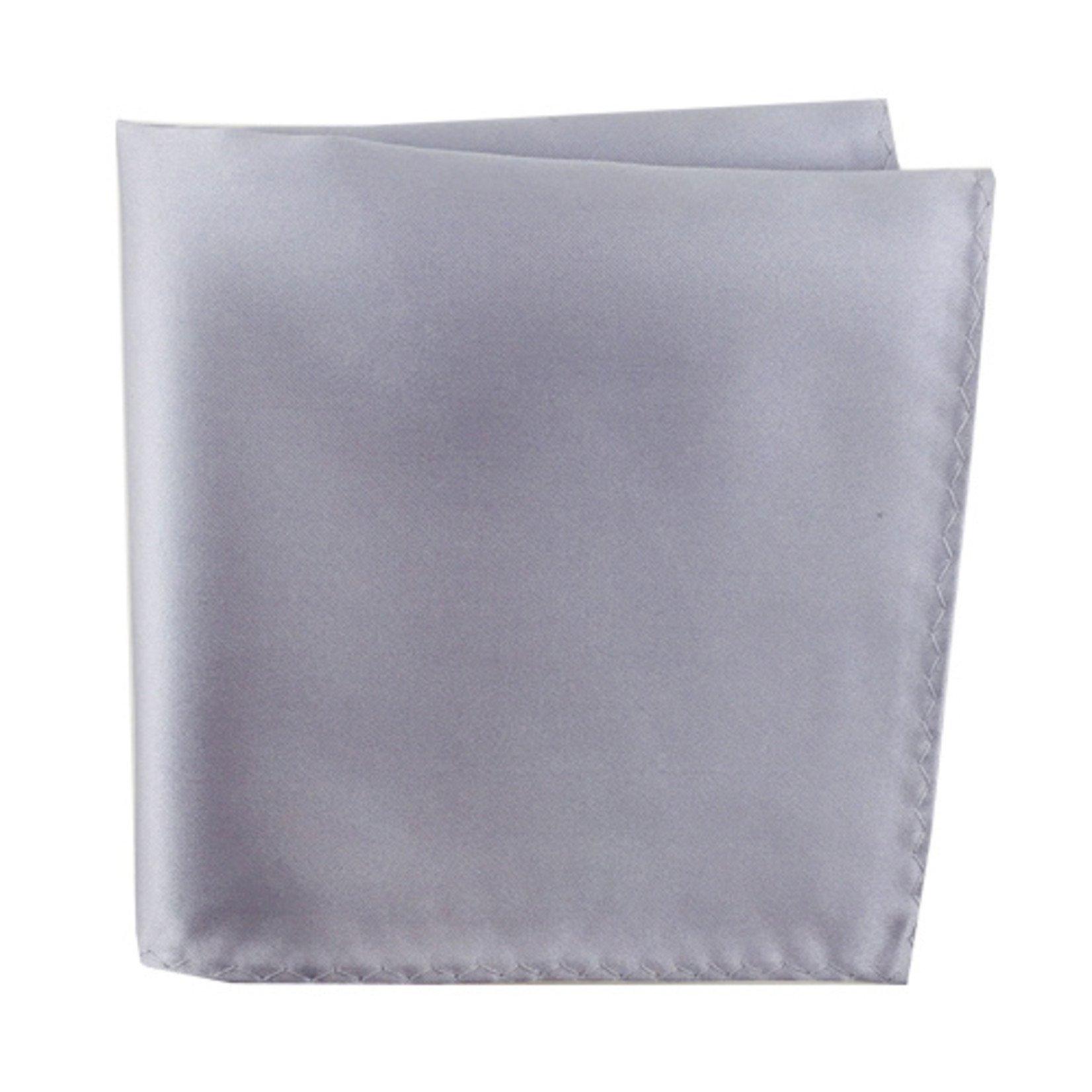 Knotz M100PSQ-17 Solid Silver Pocket Square