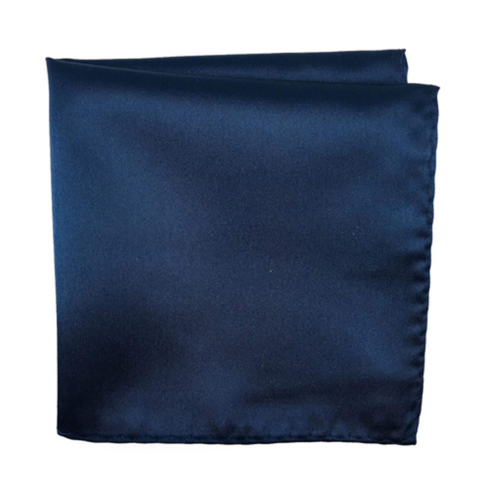 Knotz M100PSQ-2 Solid Navy Pocket Square