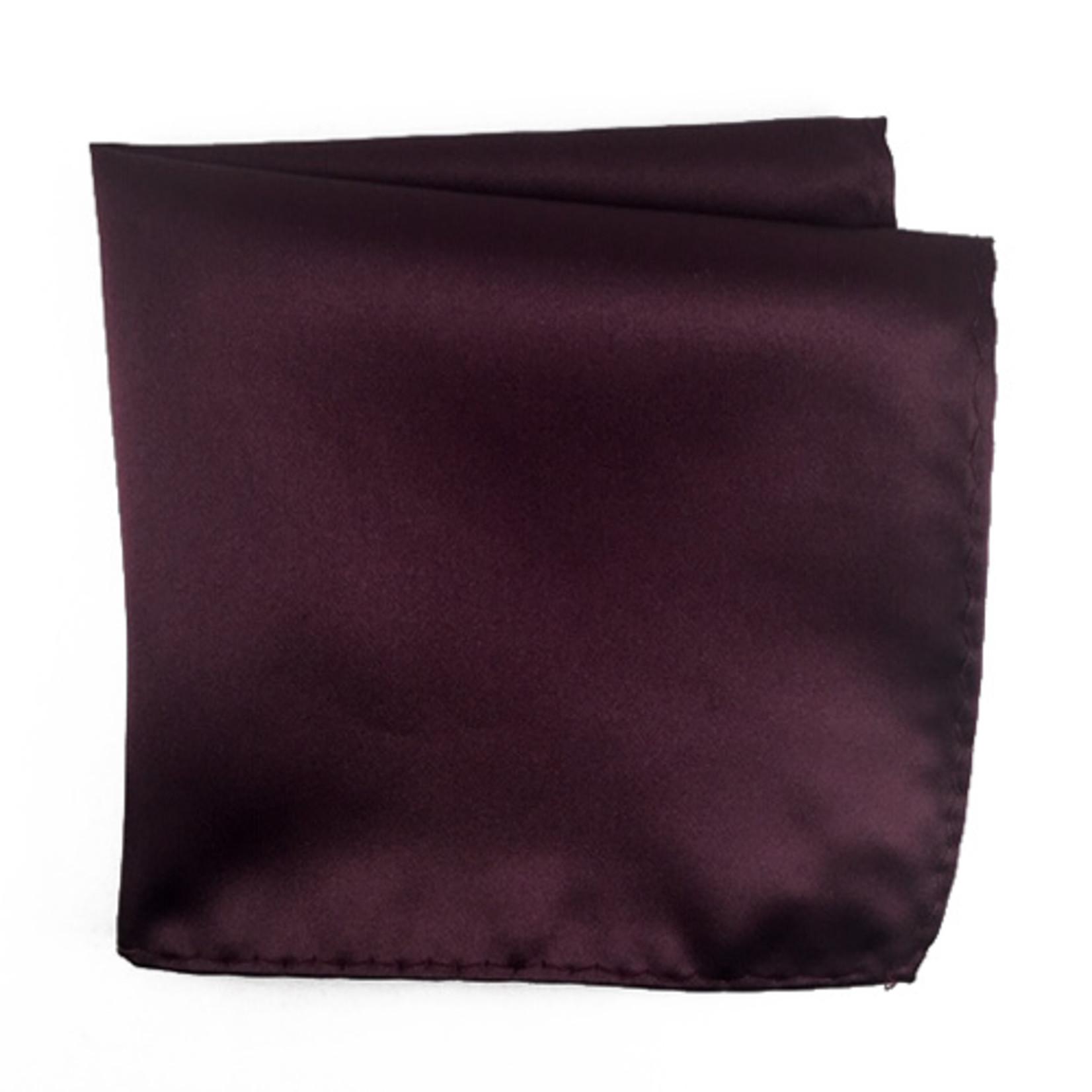 Knotz M100PSQ-3 Solid Wine Pocket Square