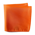 Knotz Solid Orange Pocket Square