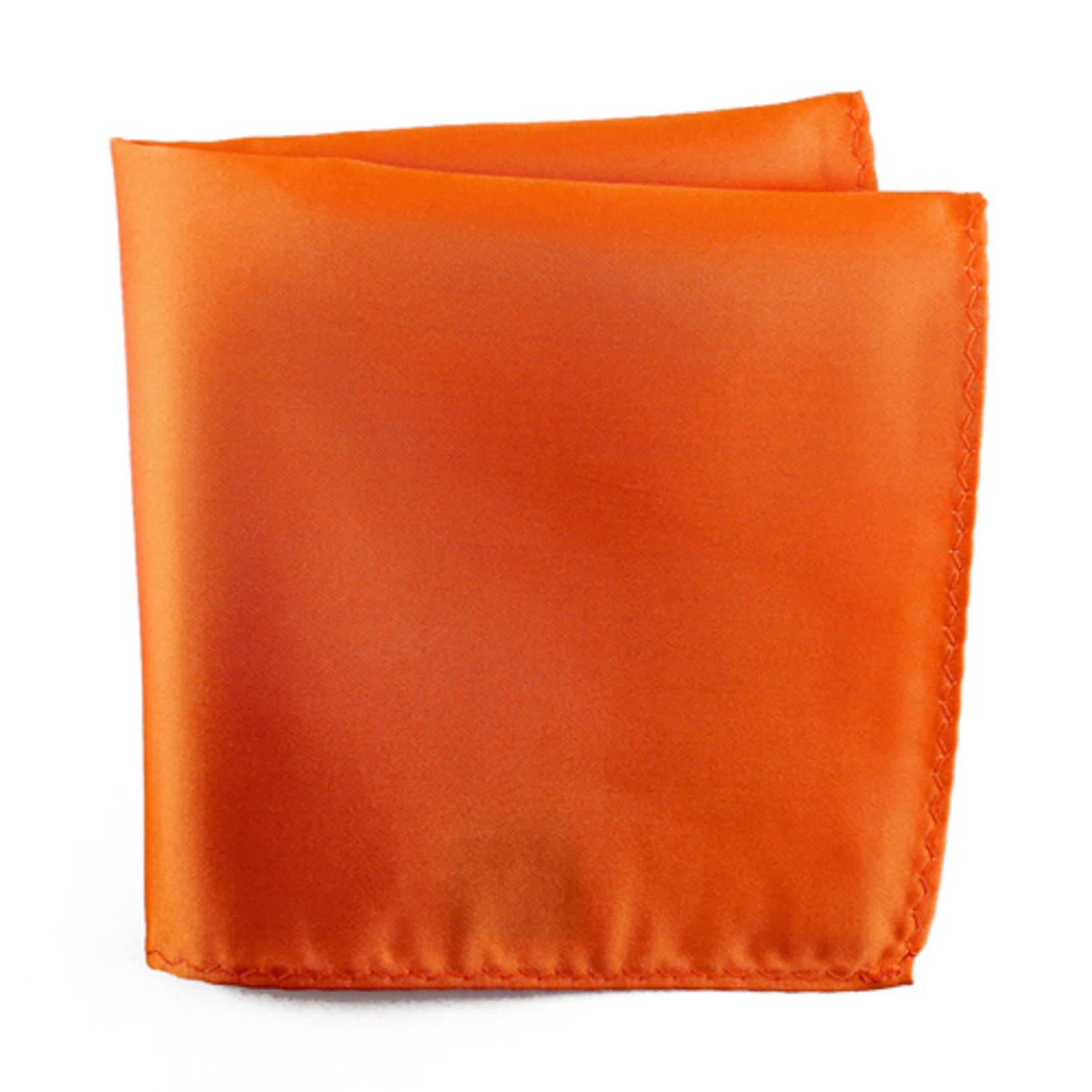 Knotz M100PSQ-10 Solid Orange Pocket Square