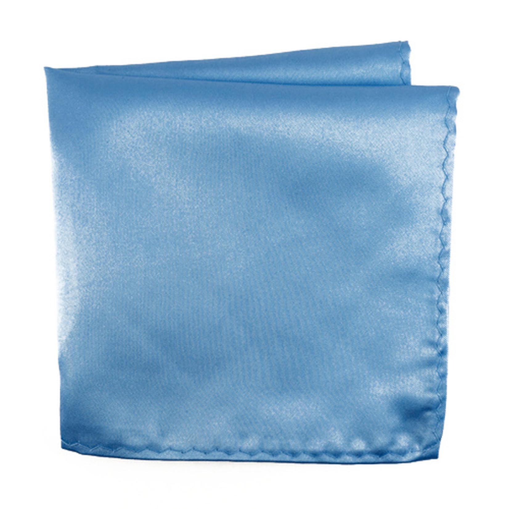 Knotz M100PSQ-12 Solid Blue Pocket Square