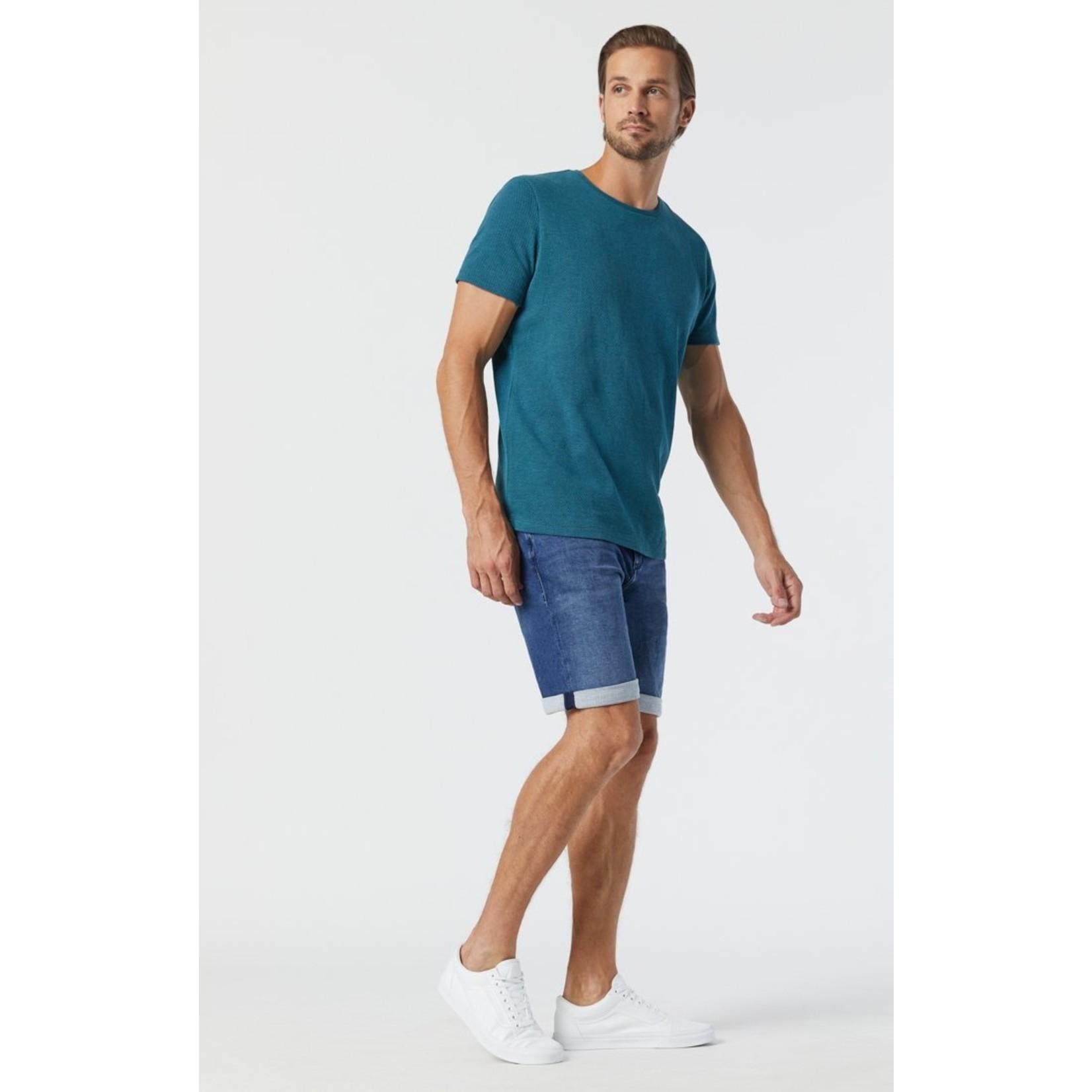 Mavi Mavi 0418433096 Brian Mid Indigo Athletic Denim Shorts