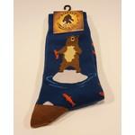 Bigfoot Bigfoot Socks Bear Fishing