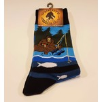 Bigfoot Bigfoot Socks Fishing Bigfoot