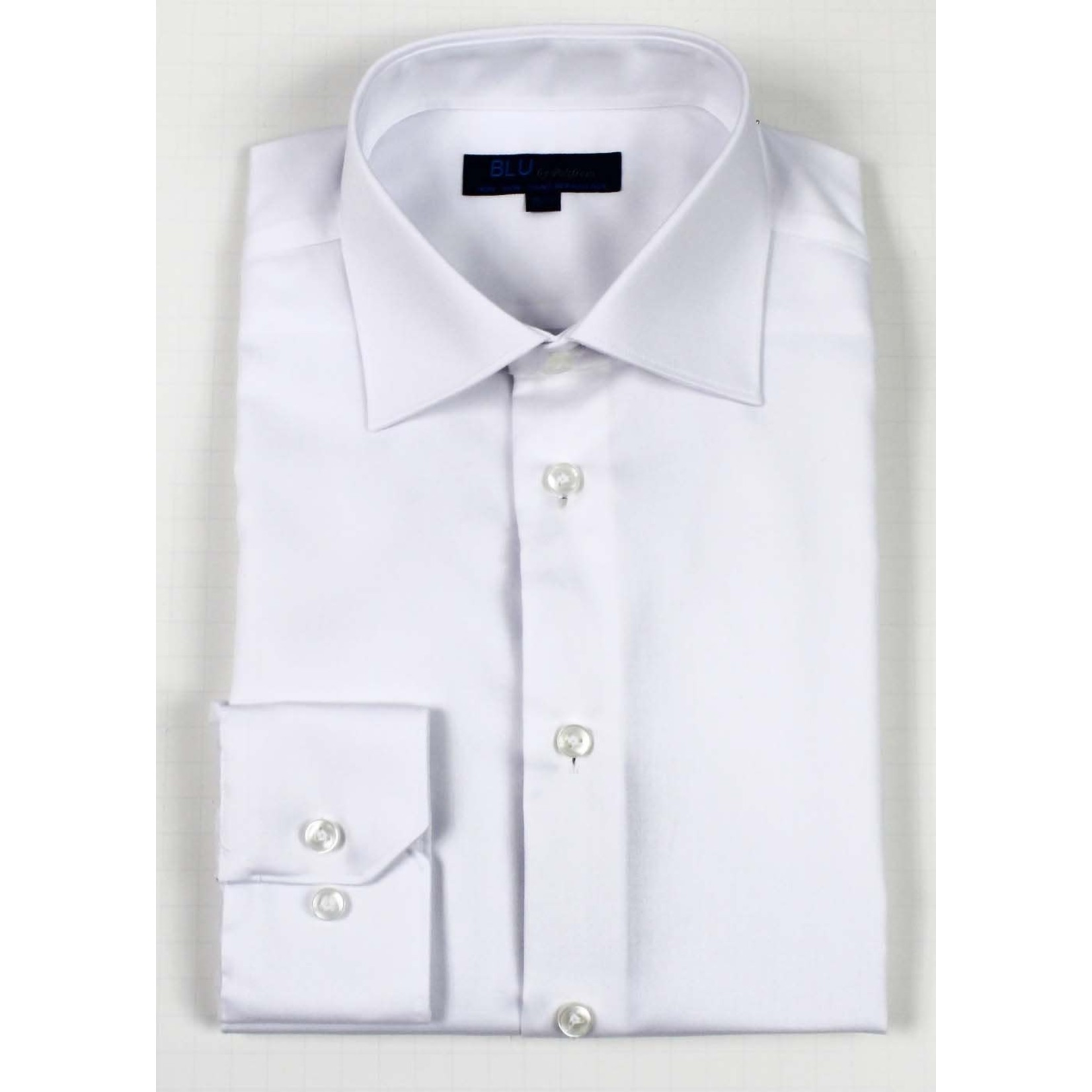 Polifroni Blu-360M Miami Non-Iron Dress Shirt 01 White