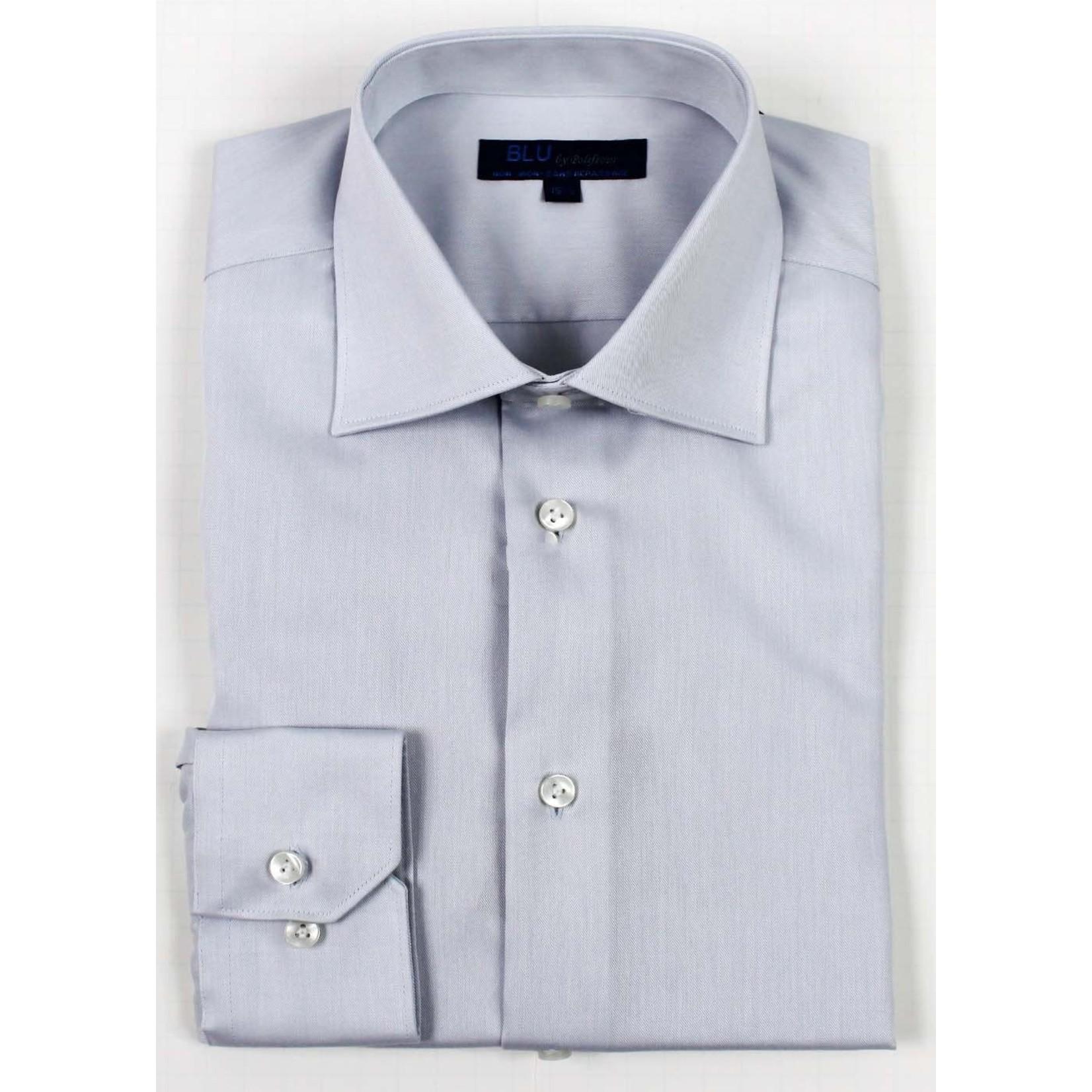 Polifroni Blu-360M Miami Non-Iron Dress Shirt 30 Silver