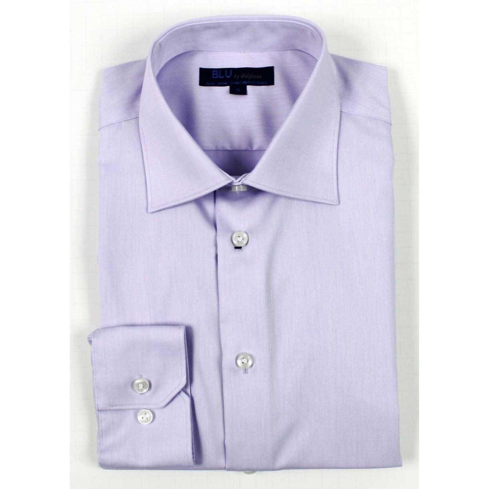 Polifroni Blu-360M Miami Non-Iron Dress Shirt 60 Lavender