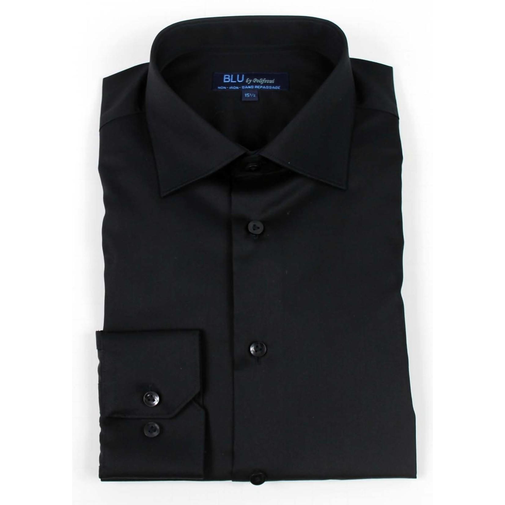 Polifroni Blu-360M Miami Non-Iron Dress Shirt 99 Black