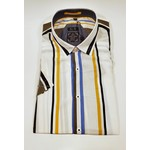 Point Zero Short Sleeve Printed Stripe Shirt