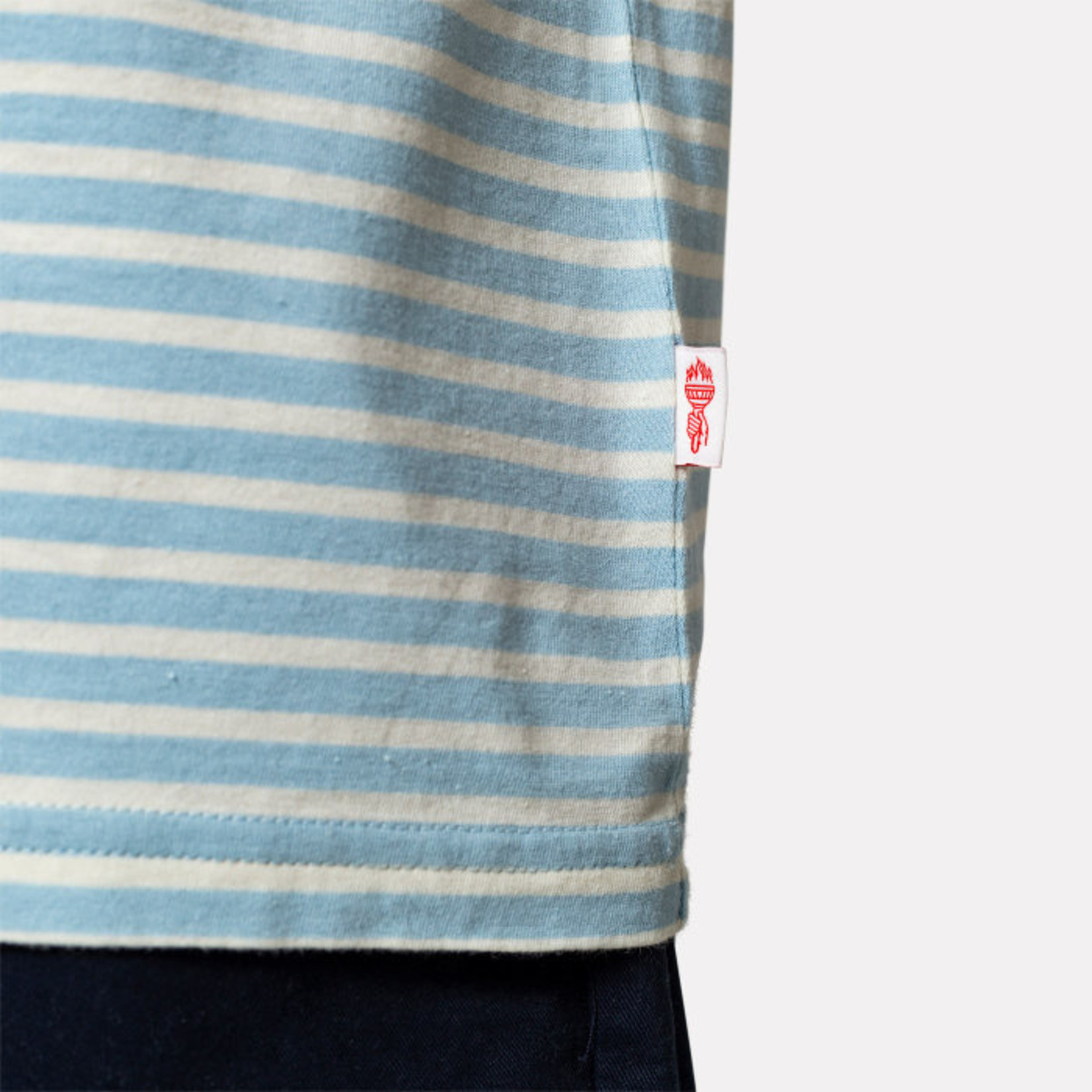 RVLT Revolution RVLT 1055 Light Blue Striped T-Shirt