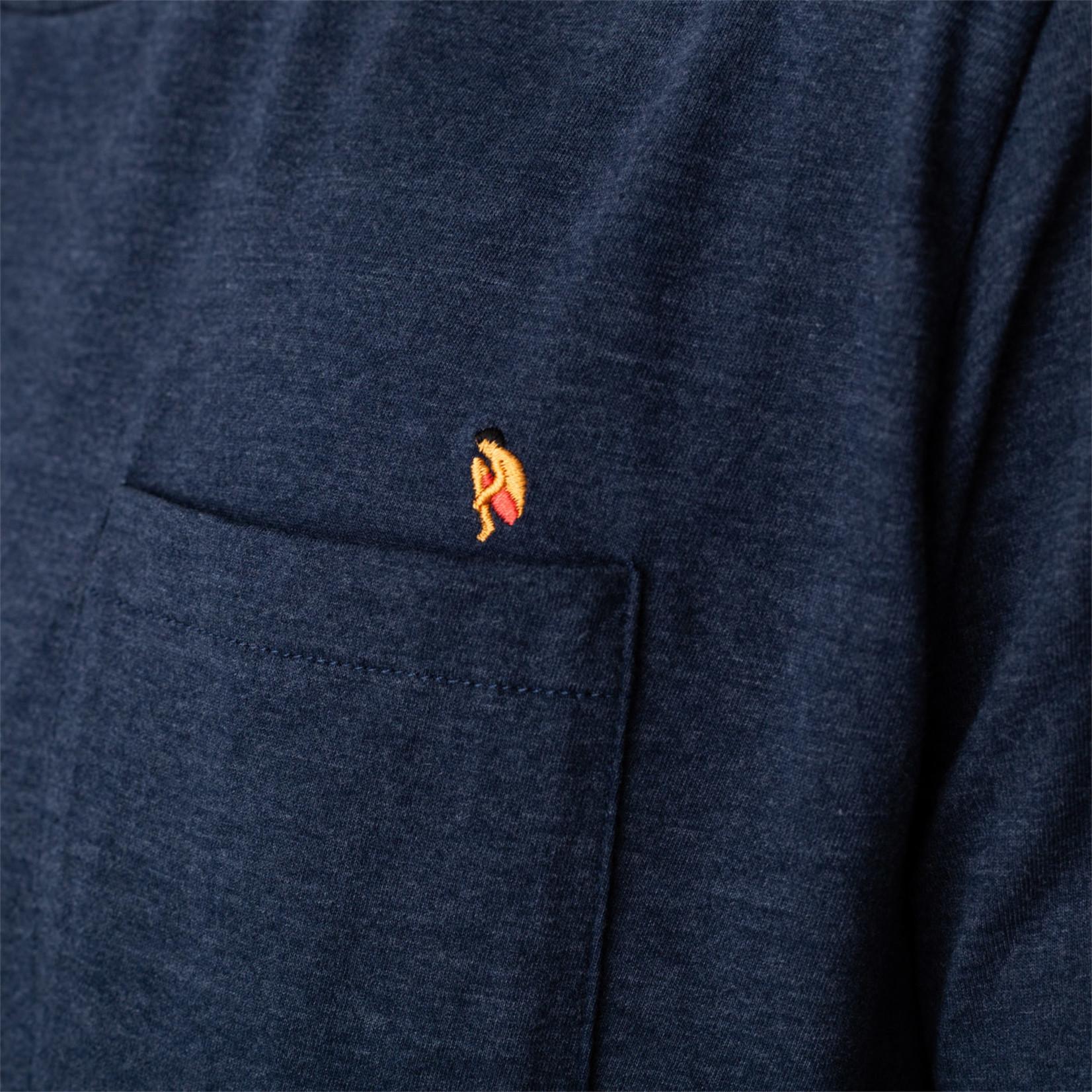 RVLT Revolution RVLT 1213 BOM Regular T-Shirt Navy Melange