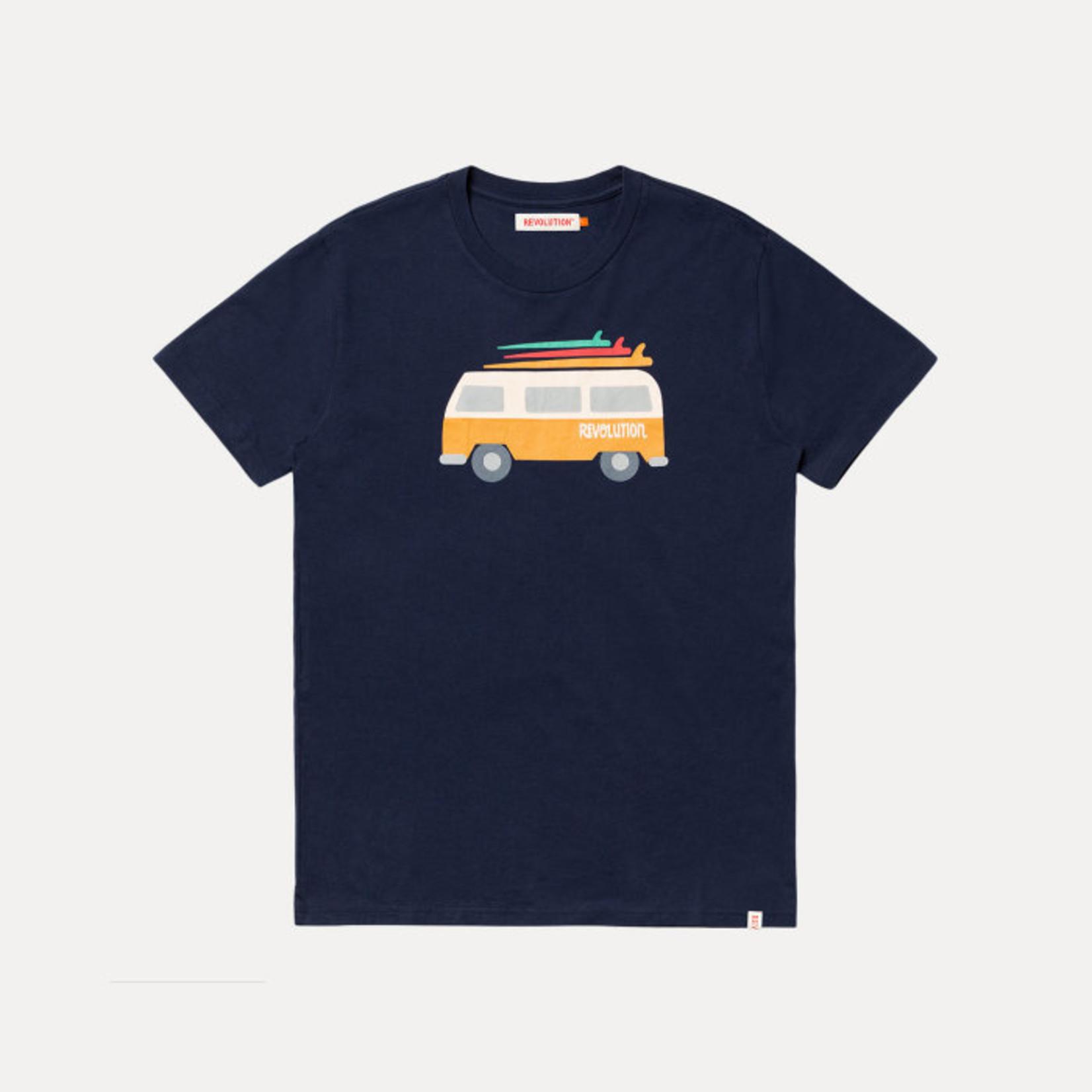 RVLT Revolution RVLT 1214 Navy Van Regular T-Shirt