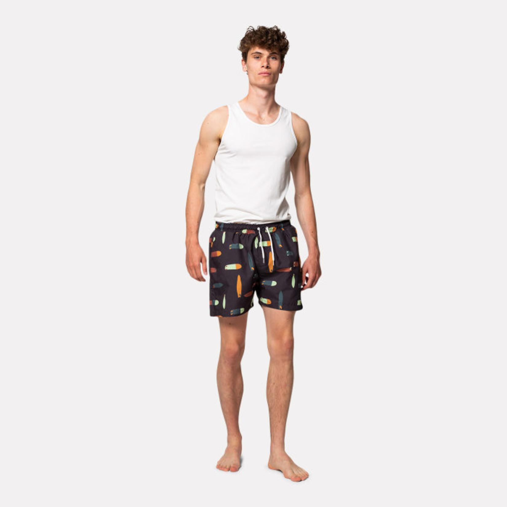 RVLT Revolution RVLT 4026 BOA Printed Navy Swim Shorts