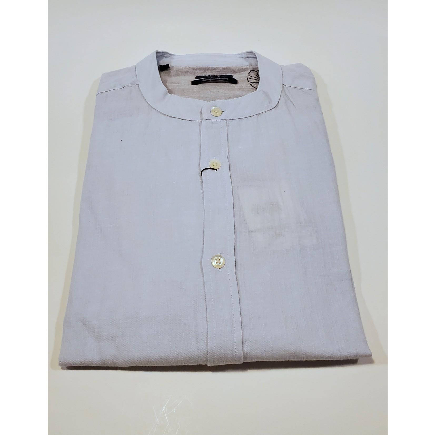Benson Benson SKT001 Linen Banded Collar Shirt
