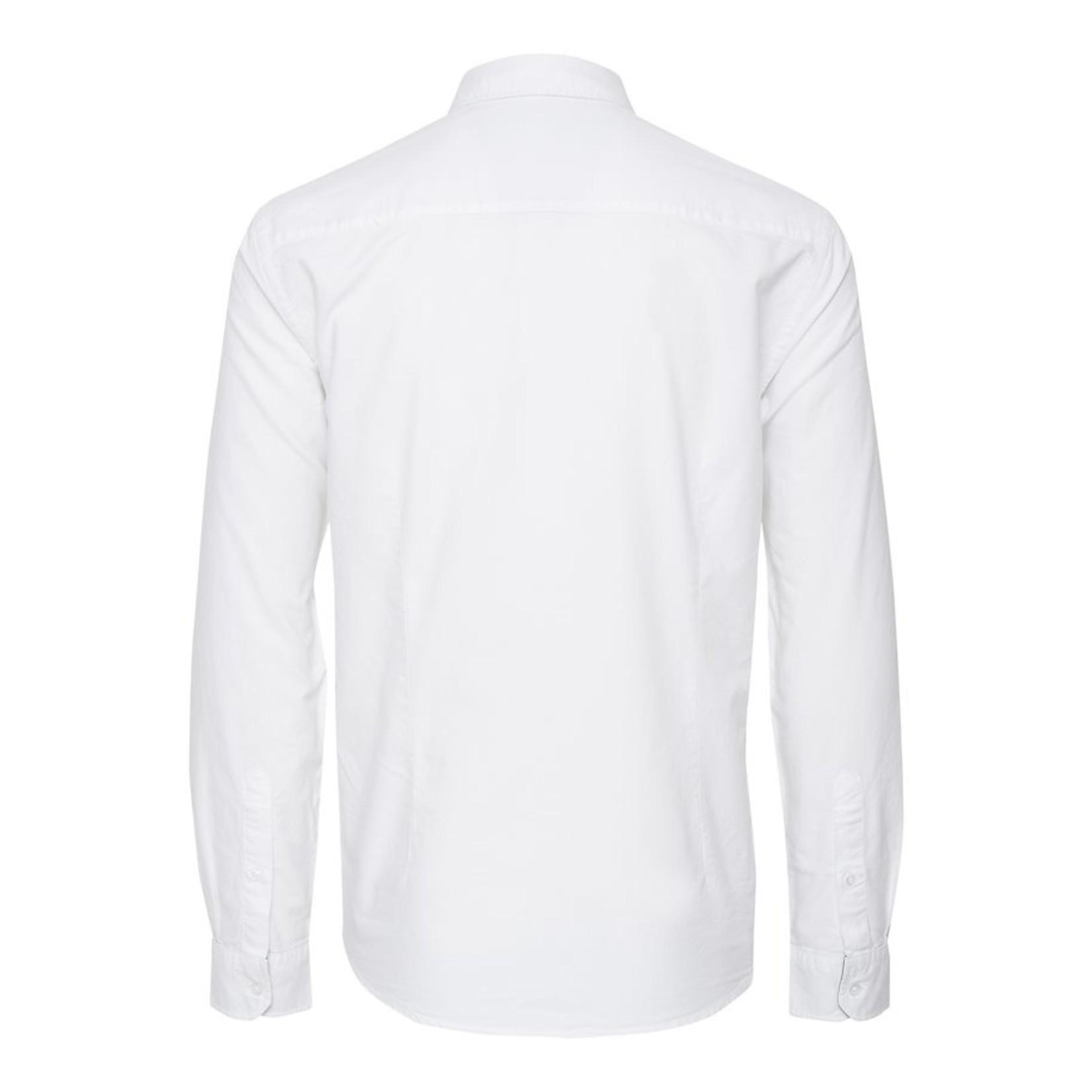 Blend Blend 20709454 BHNAIL White Long-Sleeve Button-Up Slim Fit Shirt