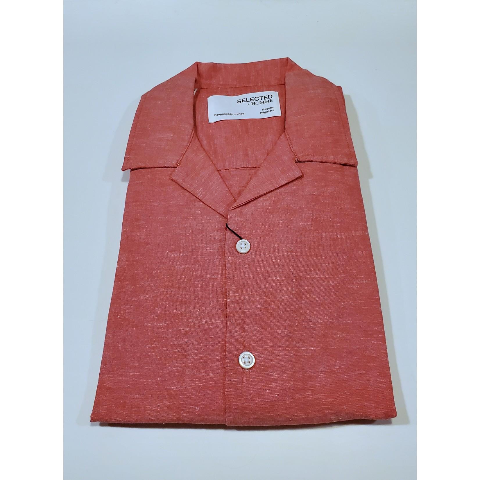 Selected Homme Selected Homme 16079055 Linen Short-Sleeve Resort Shirt