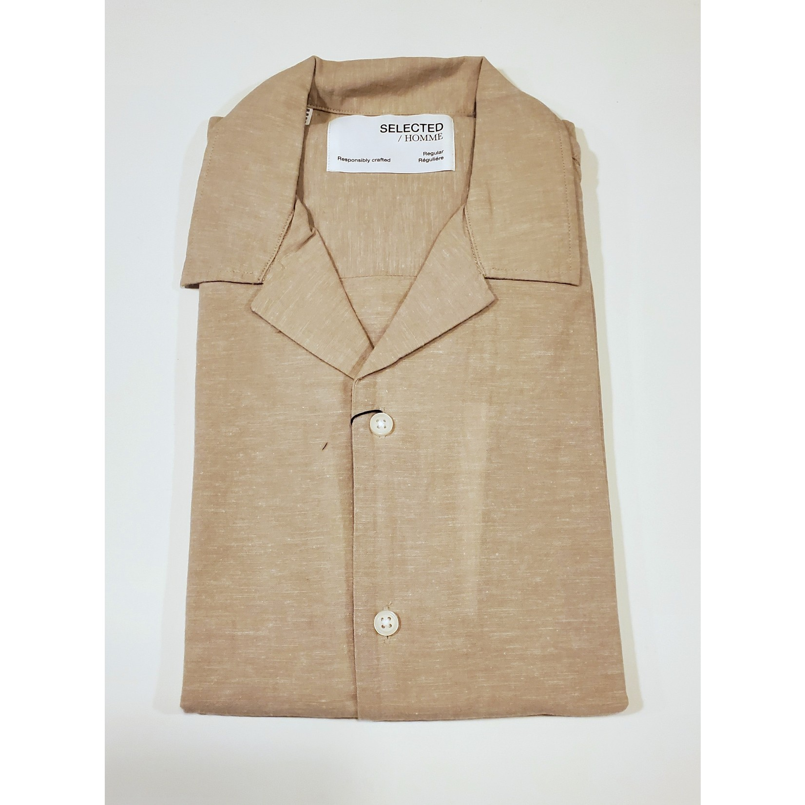 Selected Homme Selected Homme 16079055 Linen Short-Sleeve Resort Shirt
