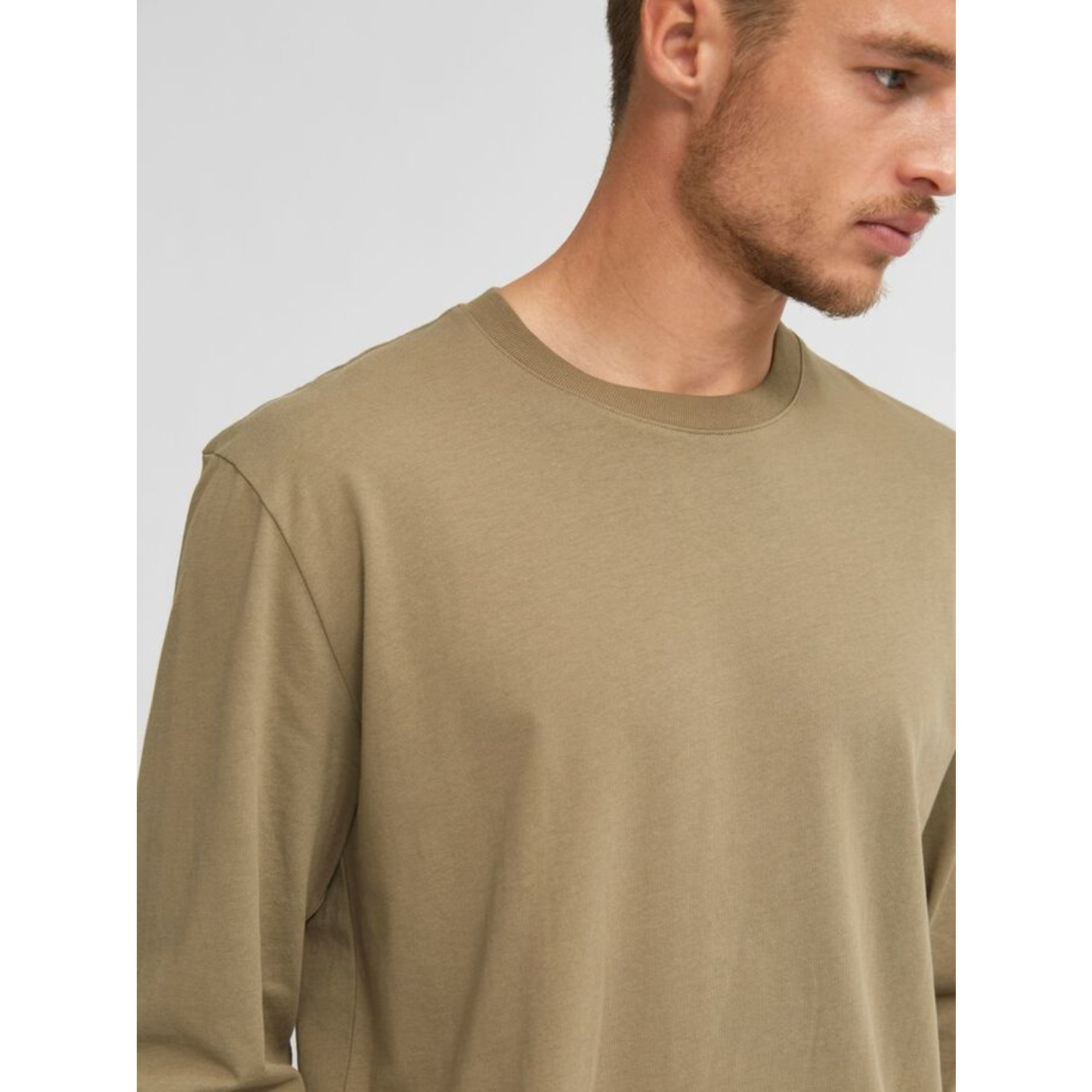 Selected Homme Selected Homme 16078605 Colman Relaxed Long-Sleeve Tee - Aloe