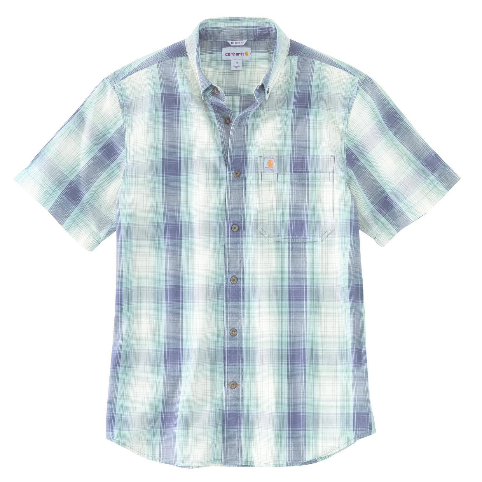 Carhartt Carhartt 104174 Relaxed Fit Mid Weight Short-Sleeve Plaid Shirt