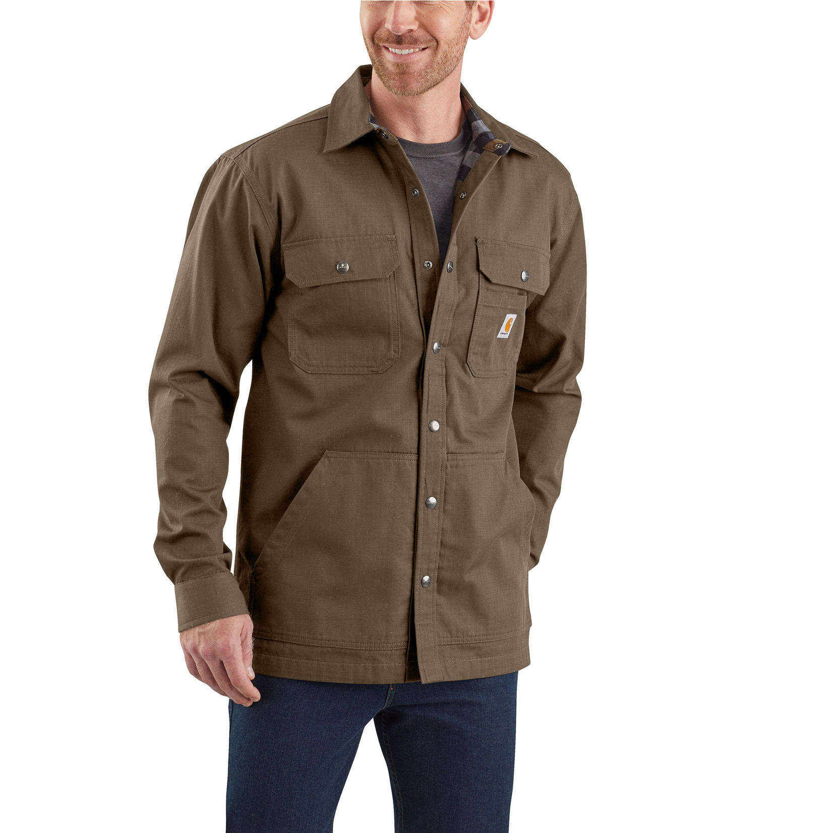 Carhartt Carhartt 104146 Loose Fit Ripstop Snap Shirt Jacket
