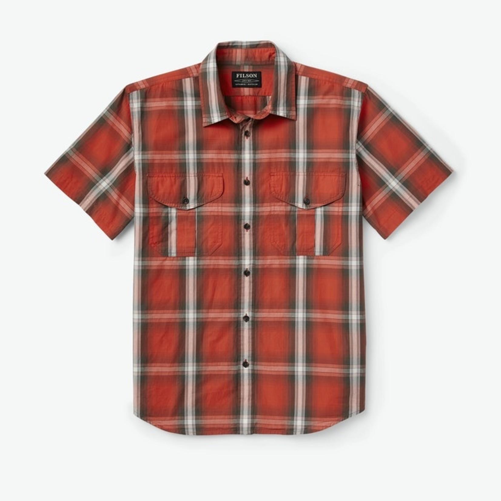 Filson Filson 20189134 Washed Short Sleeve Feather Cloth Shirt