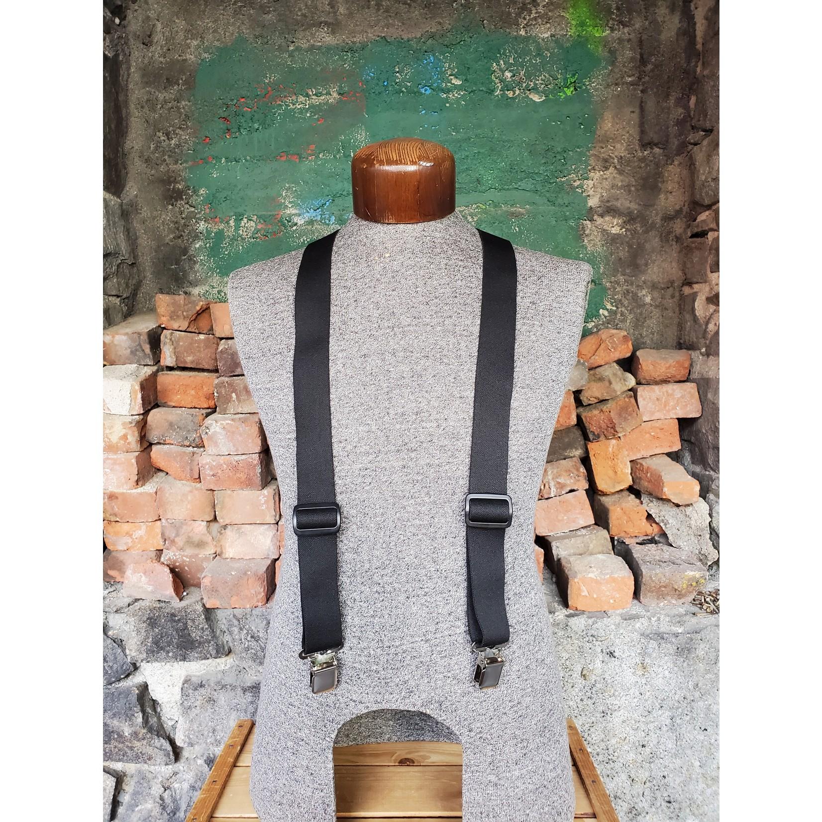 """Lynn Valley Mfg Lynn Valley Dress 1.5"""" Suspender SCB150-4 Black"""