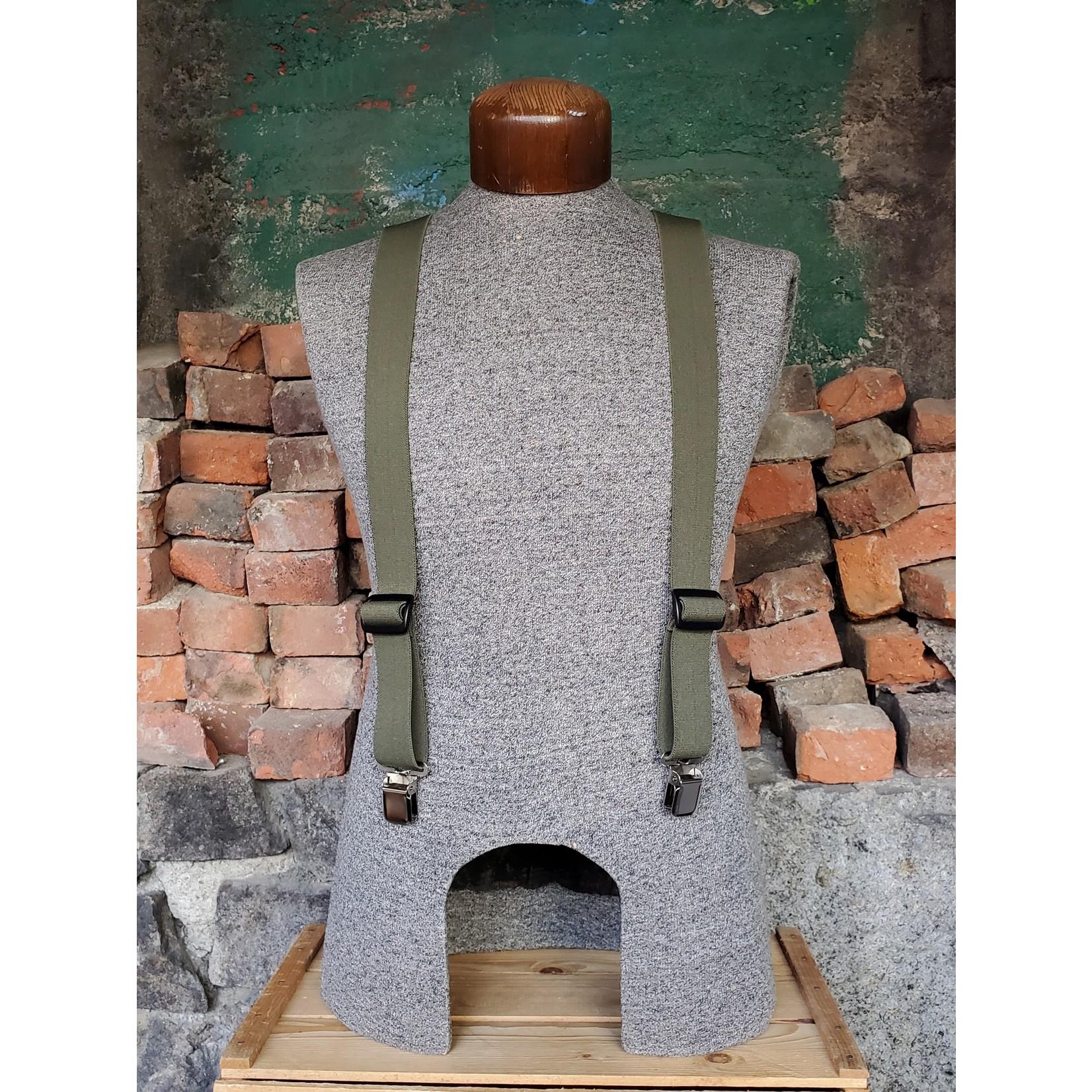 """Lynn Valley Mfg Lynn Valley Dress 1.5"""" Suspender SCO150-4 Olive"""