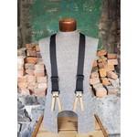 """Lynn Valley Mfg Lynn Valley 1.5"""" Button-On Suspender Black"""