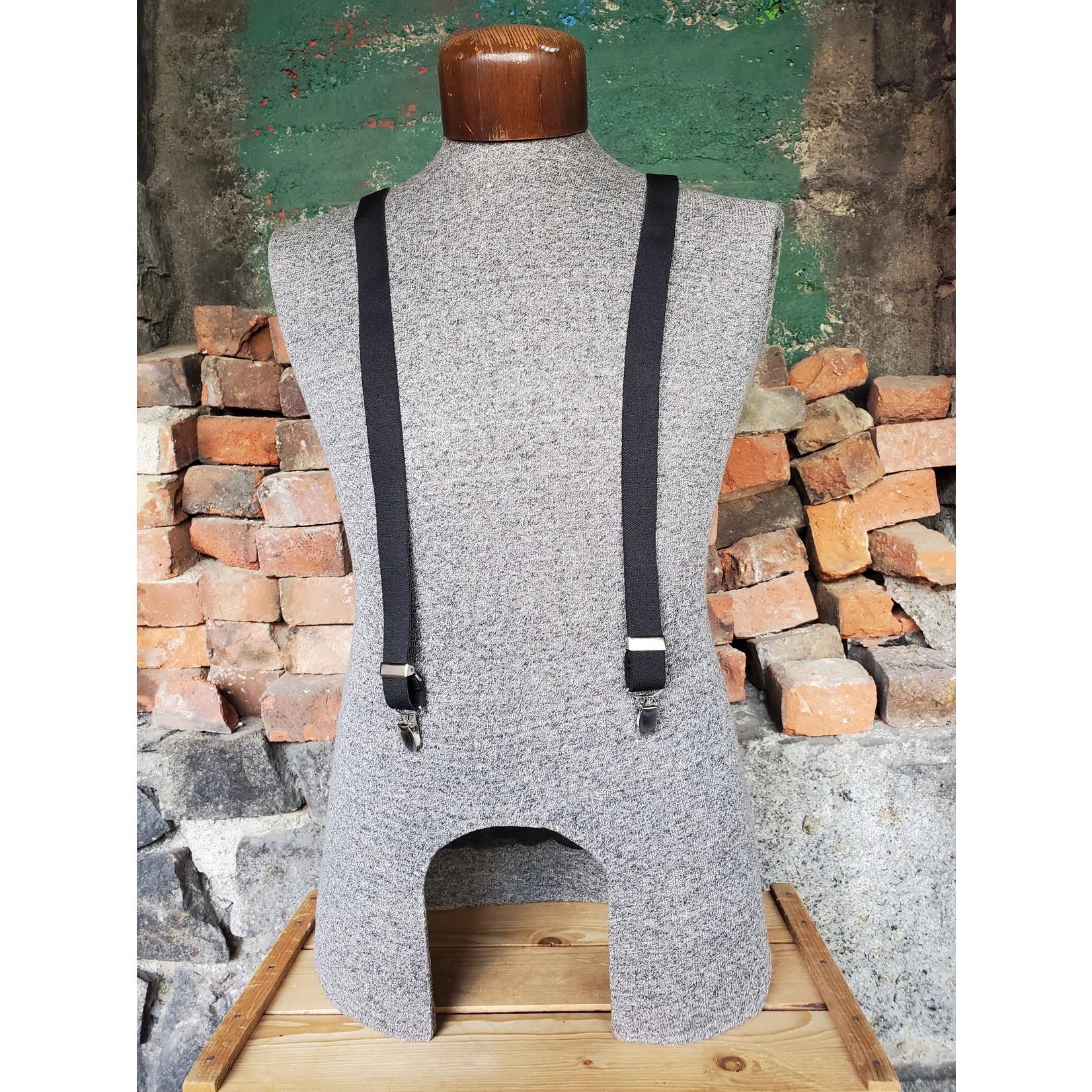 """Lynn Valley Mfg Lynn Valley Dress 1"""" Suspender SCB100-4 Black"""