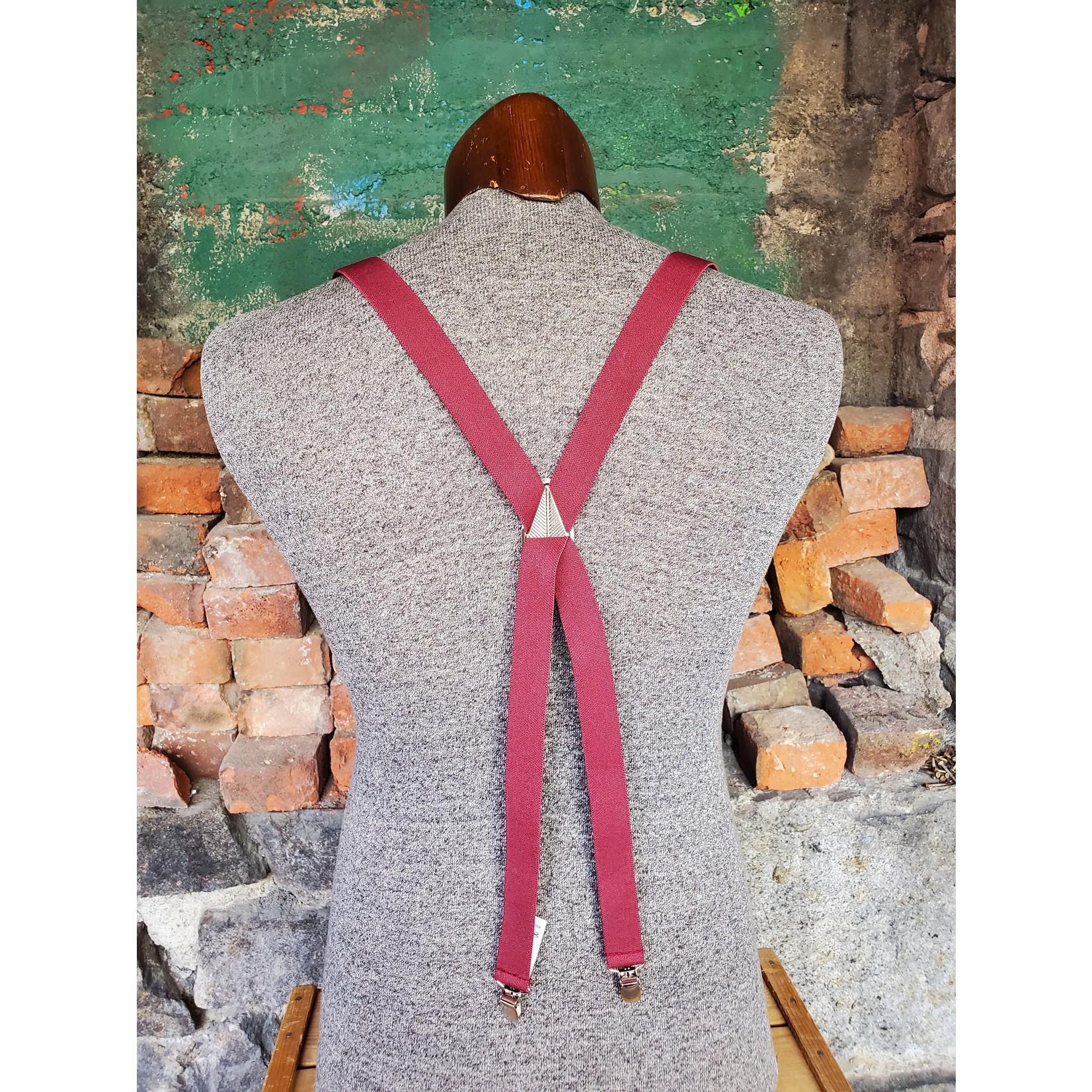 """Lynn Valley Mfg Lynn Valley Dress 1"""" Suspender SCBu100-4 Burgundy"""