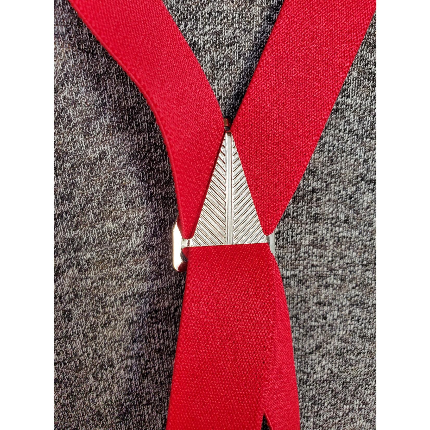 """Lynn Valley Mfg Lynn Valley Dress 1"""" Suspender SCR100-4 Red"""