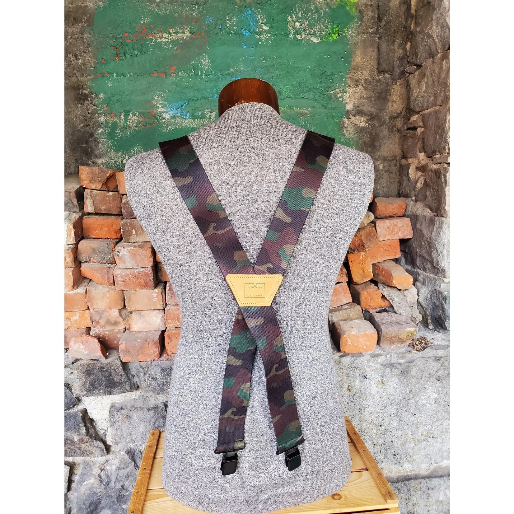 """Lynn Valley Mfg Lynn Valley Heavy Duty 2"""" Clip Suspender SCGc200-5 Camo"""