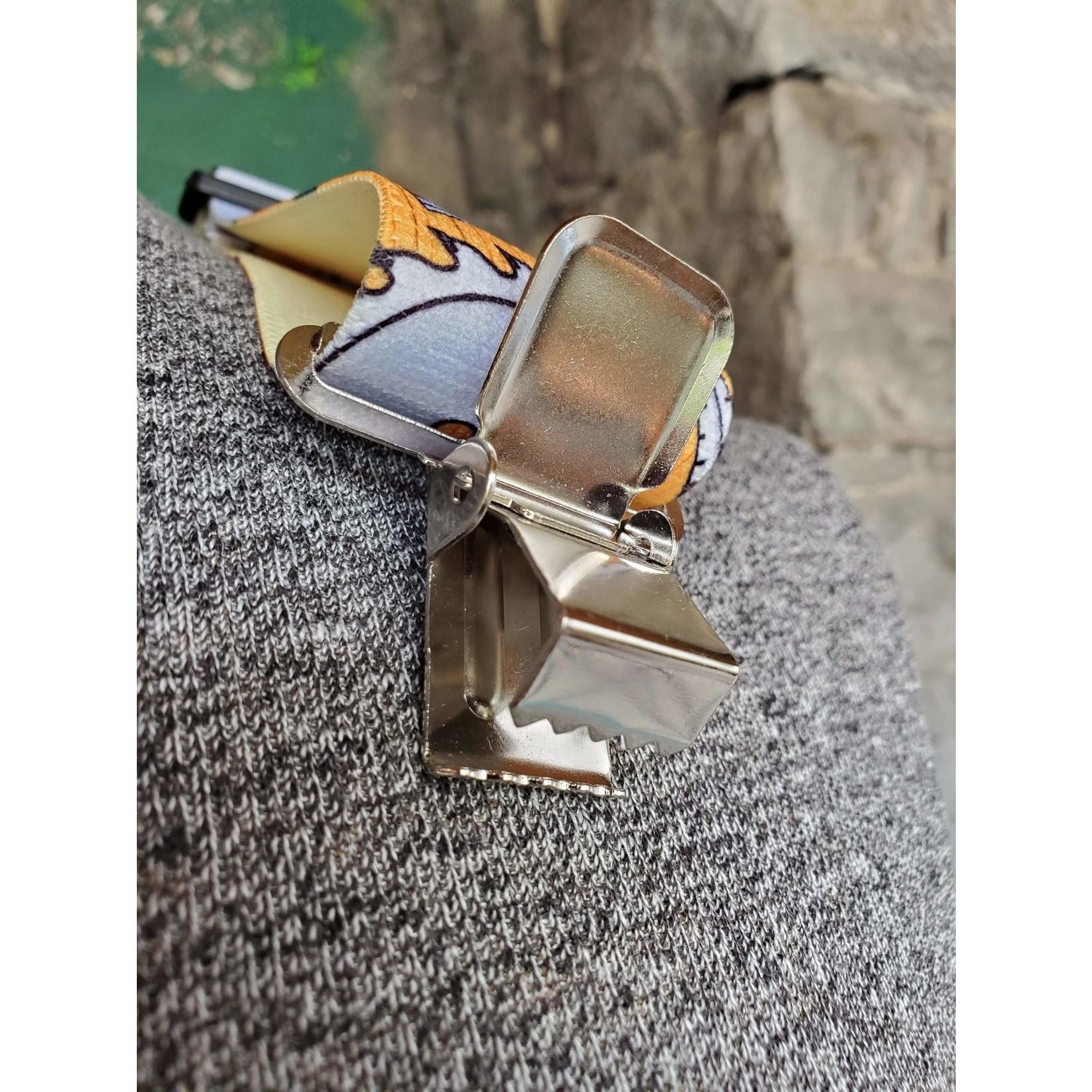 """Lynn Valley Mfg Lynn Valley Heavy  Duty Novelty 2"""" Clip Suspender SCTn200-5CR Tan Carpenter"""